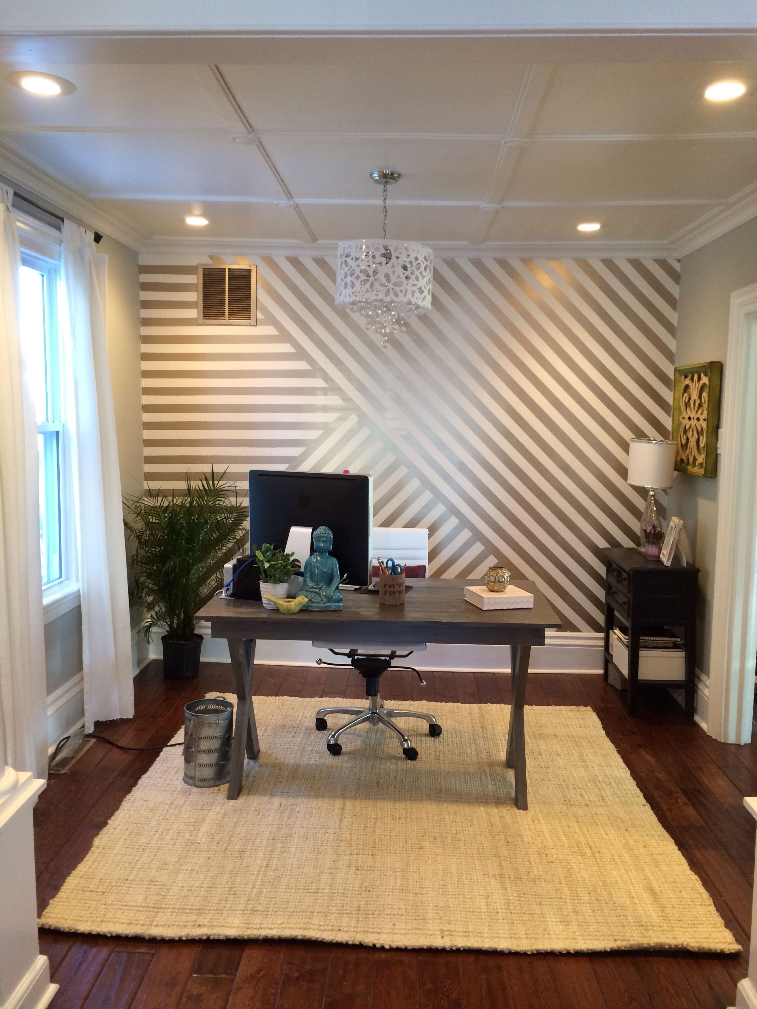 Popular Stripe Wall Accents Intended For 13+ Most Popular Accent Wall Ideas For Your Living Room (Gallery 13 of 15)