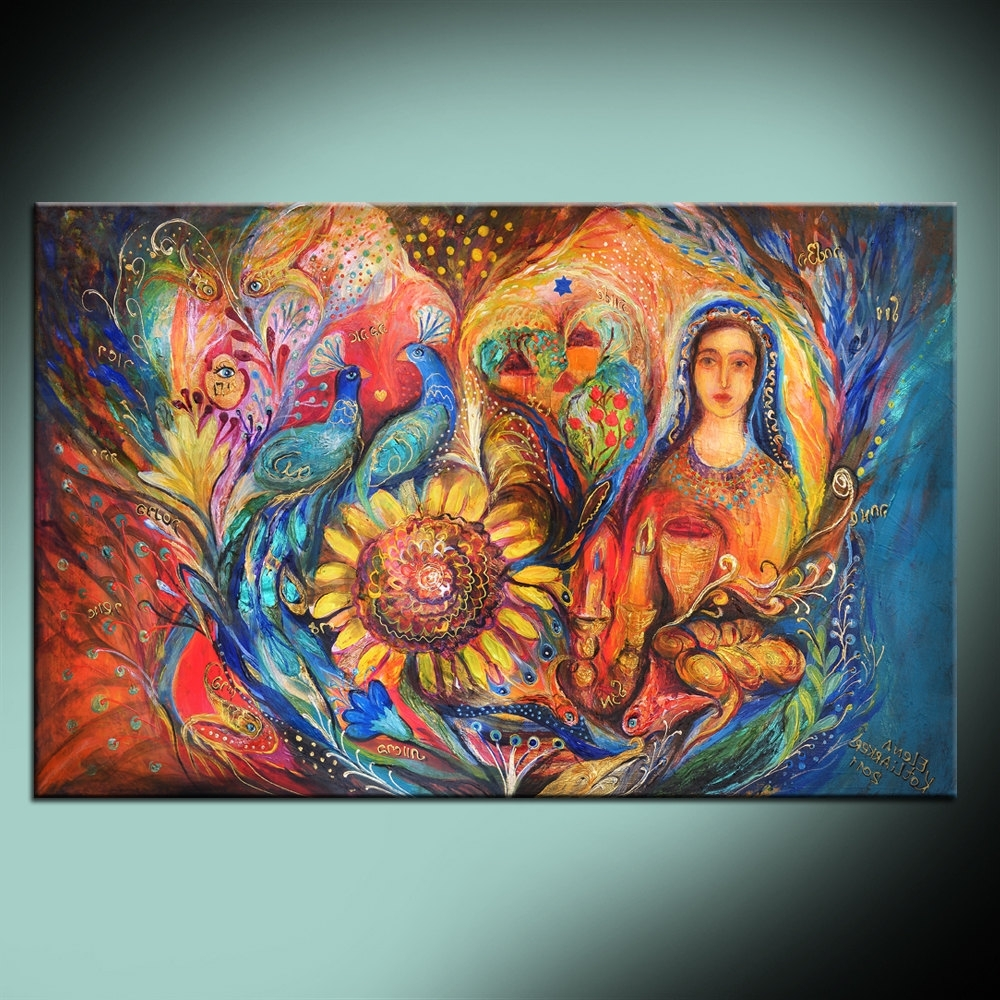 Popular The Shabbat Queen : Canvas Print Based On Jewish Art Painting With Regarding Jewish Canvas Wall Art (Gallery 15 of 15)