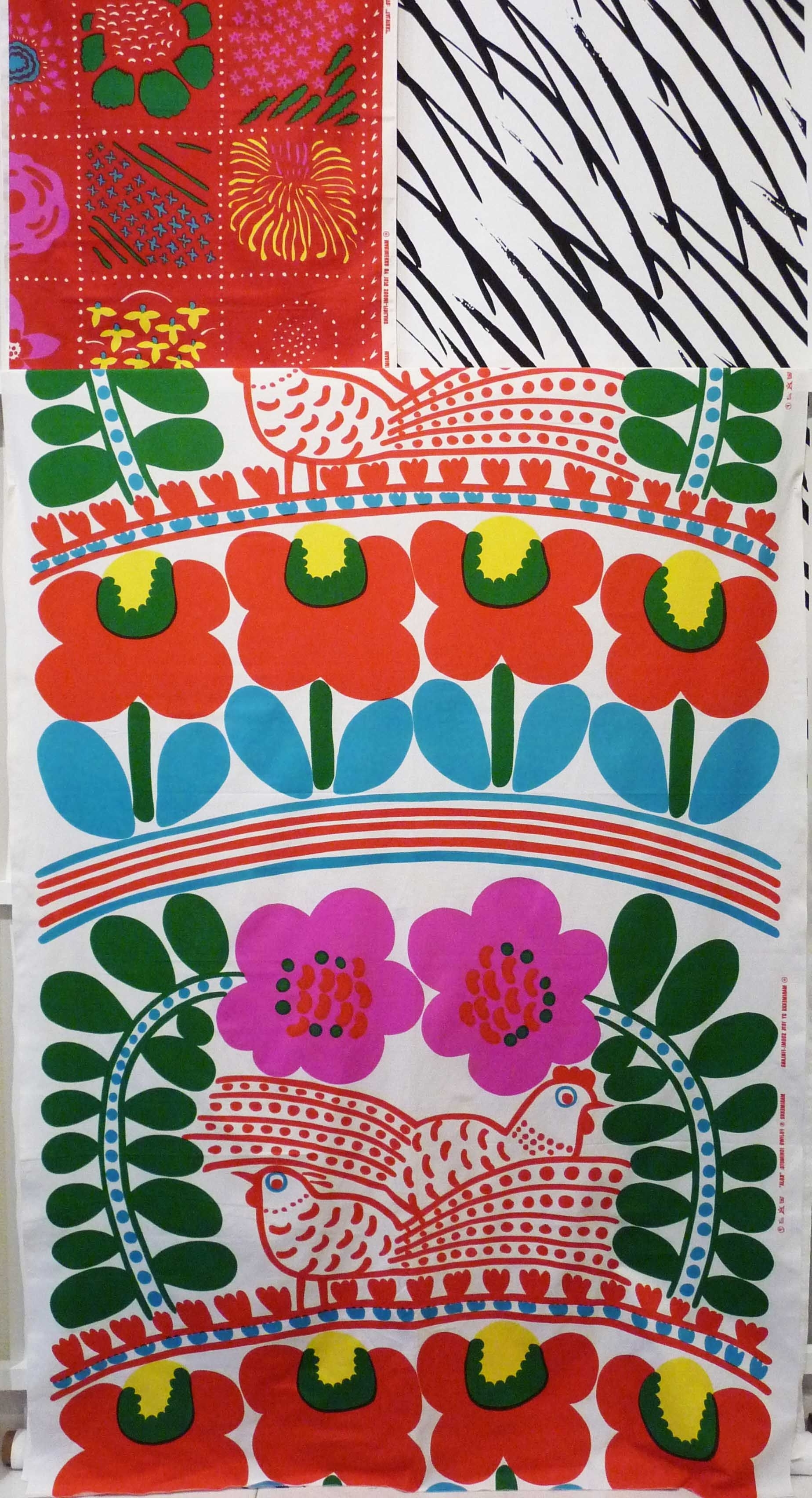 Popular Vintage Marimekko Fabric Designedjapanese Textile Designer Intended For Marimekko 'karkuteilla' Fabric Wall Art (Gallery 15 of 15)