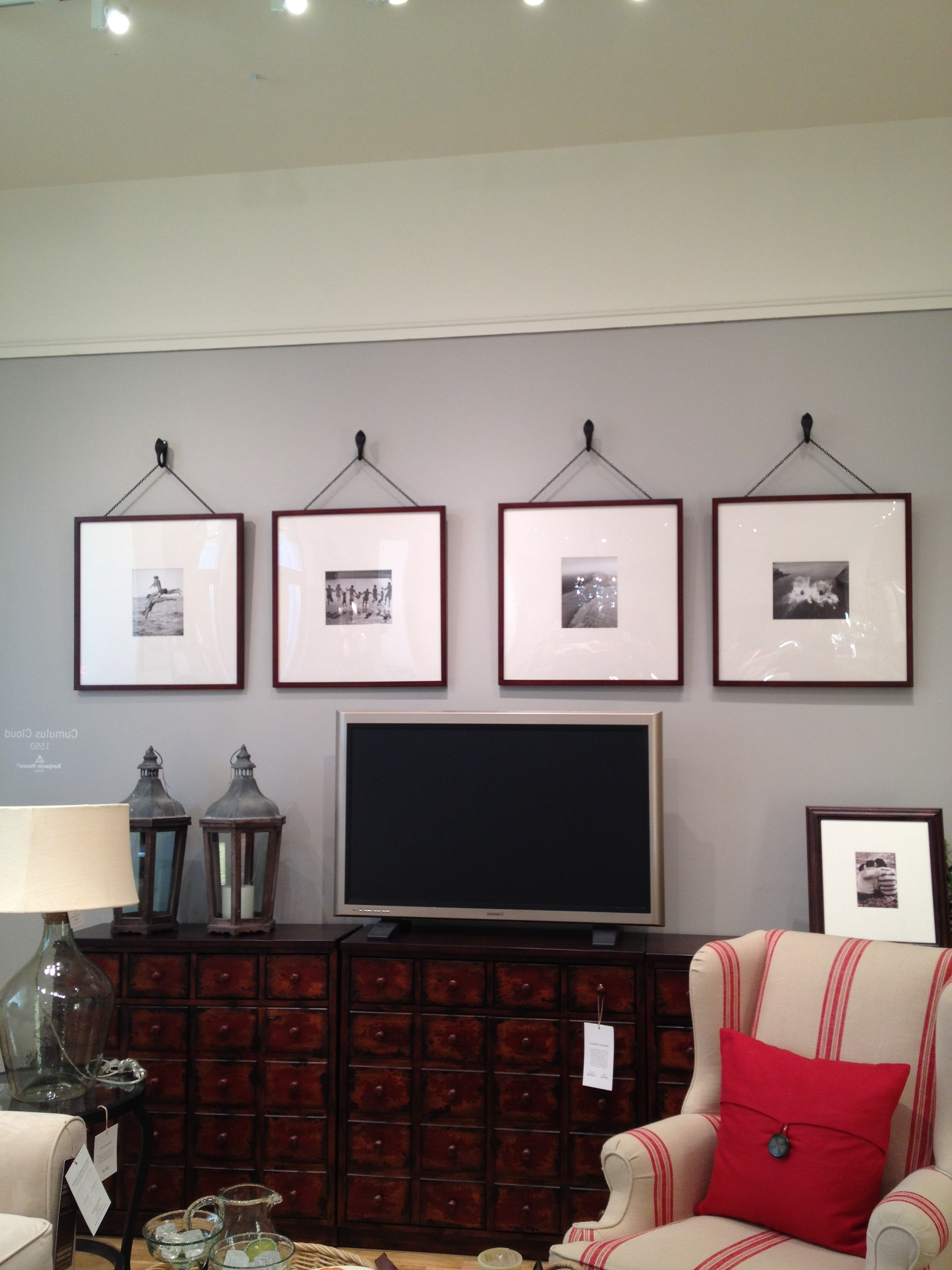 Pottery Barn Oversized Picture Frames Maybe Over The Tv In The Inside Trendy Wall Accents Behind Tv Or Couch (Gallery 4 of 15)