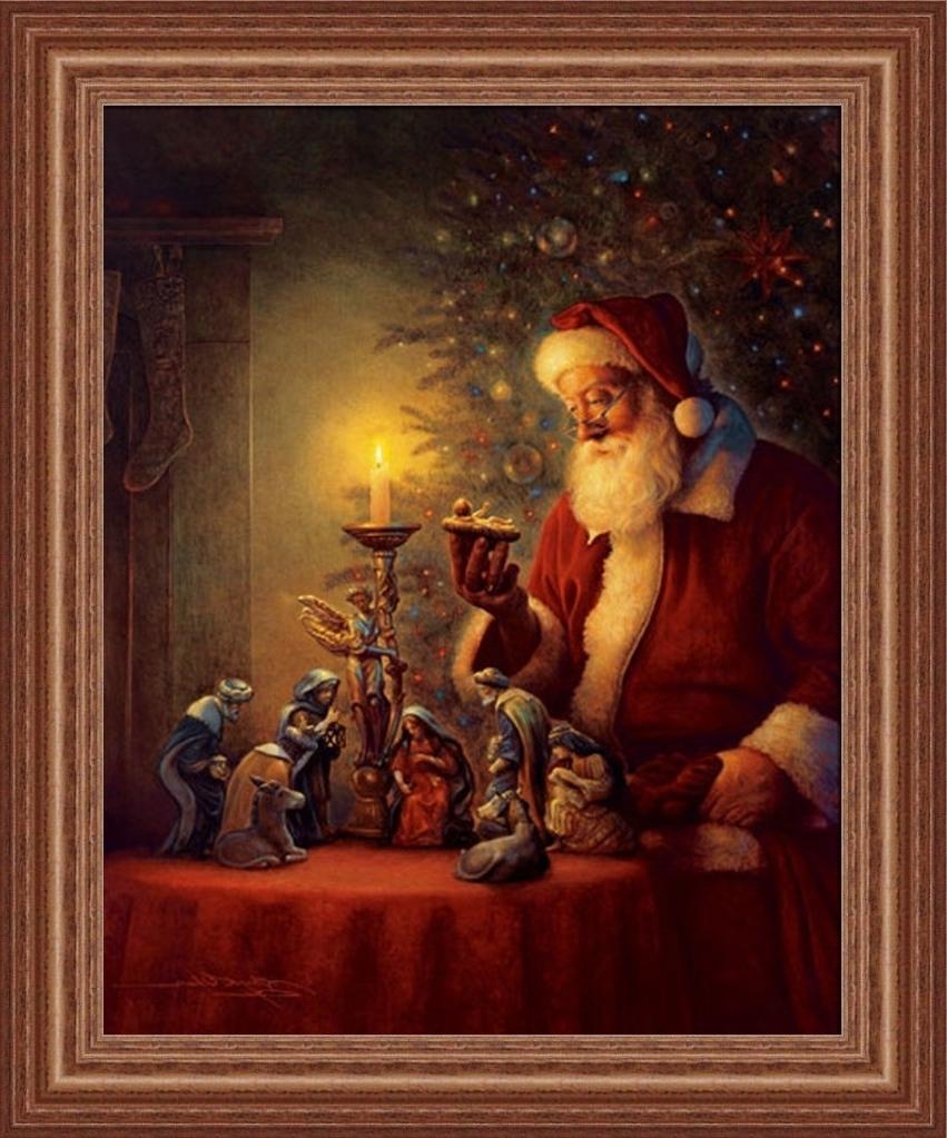 Preferred Amazon: The Spirit Of Christmasgreg Olsen Nativity Scene With Regard To Christmas Framed Art Prints (View 11 of 15)