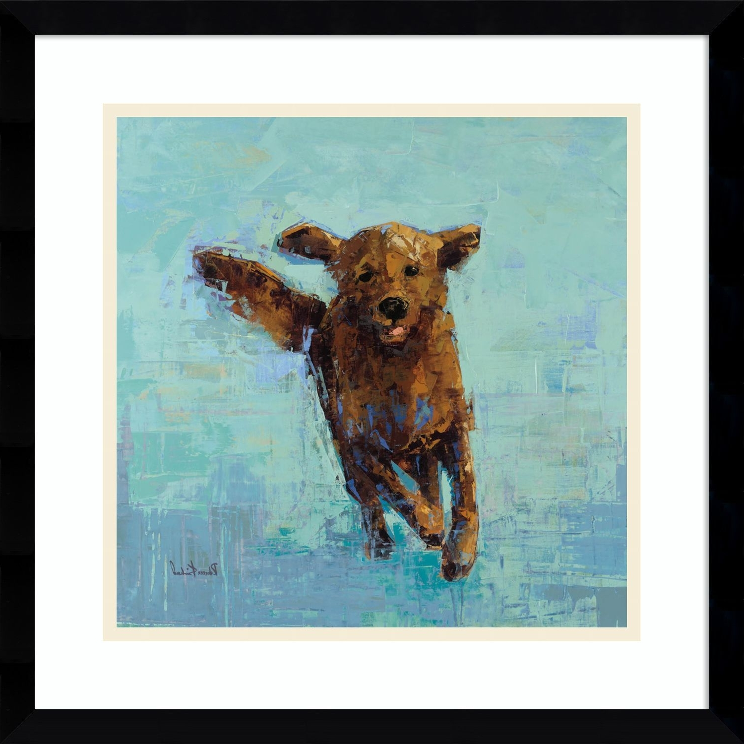 Preferred Dog Art Framed Prints Regarding Framed Art Print 'golden Dog No (View 12 of 15)