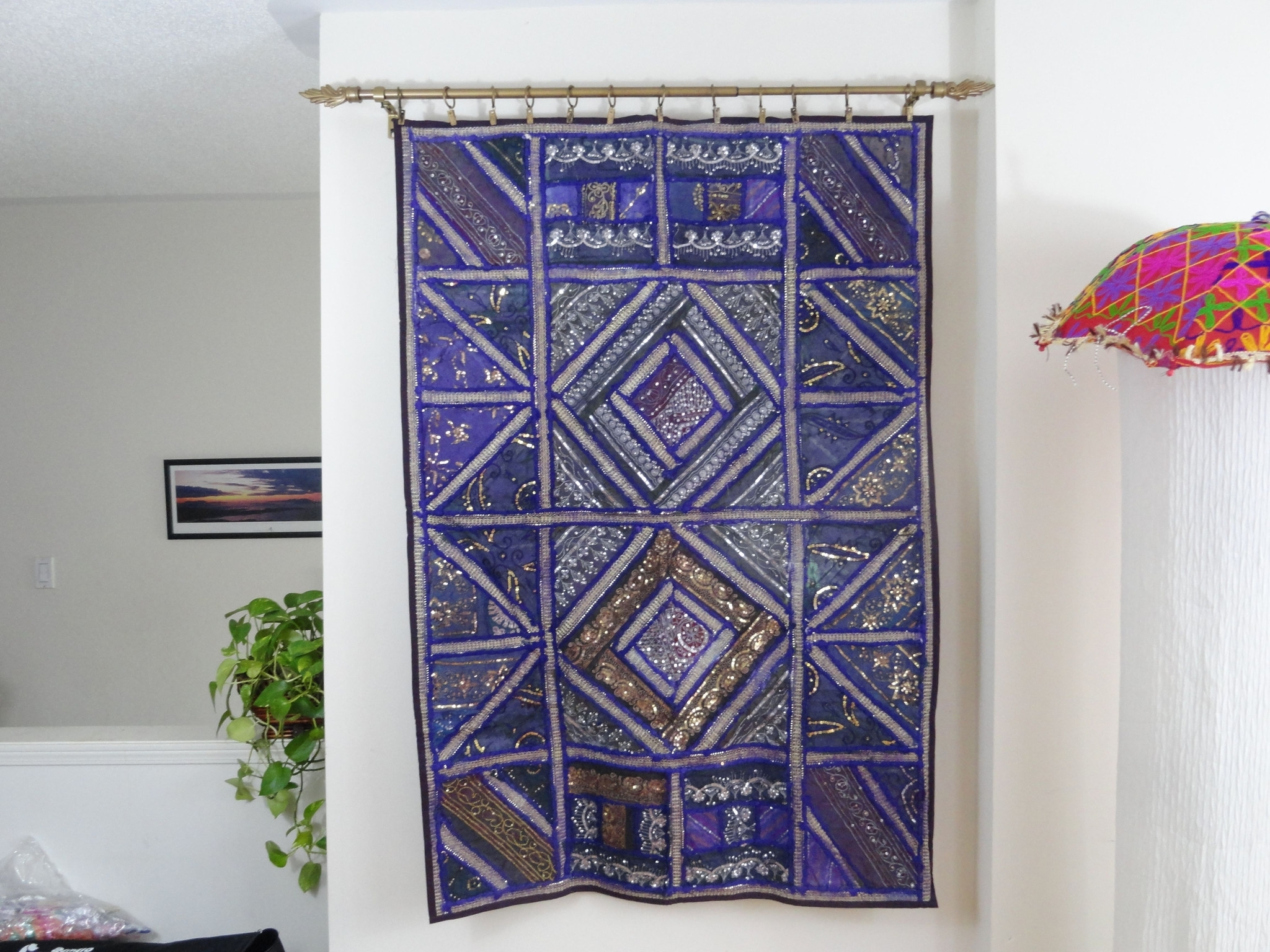 Preferred Fabric Wall Hangings Art Inside Ethnic Gifts For The Home  Fabric Wall Tapestry (View 14 of 15)