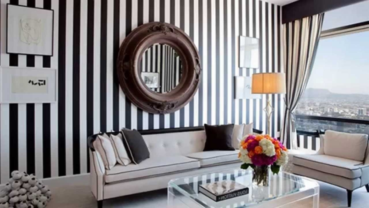 Preferred Gorgeous Living Rooms With Striped Accent Walls – Youtube In Stripe Wall Accents (View 12 of 15)