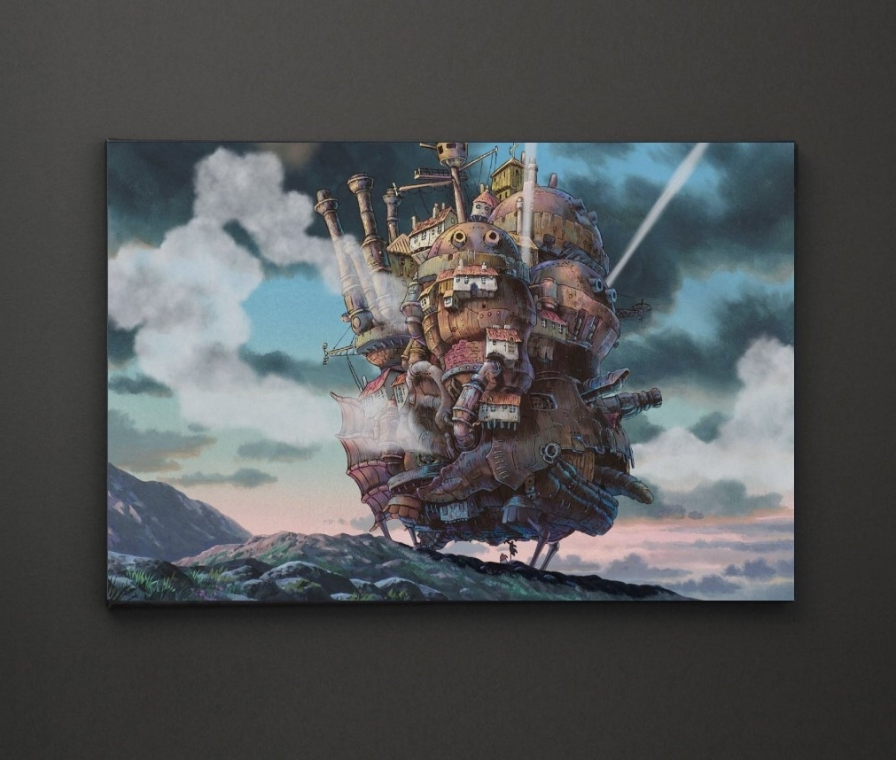 Preferred Leadgate Canvas Wall Art In Howls Moving Castle A4 Framed/box Canvas A4 A3 A2 A1 Gift Ideas (View 12 of 15)