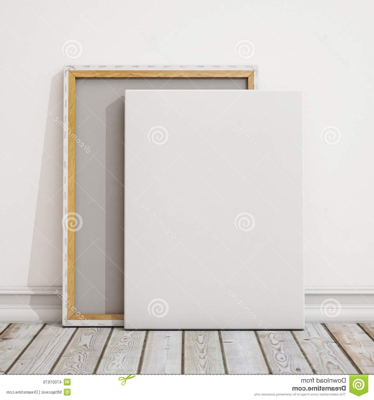Preferred Mockup Canvas Wall Art Pertaining To Mock Up Blank Canvas Or Poster With Pile Of Canvas On Floor And (View 14 of 15)