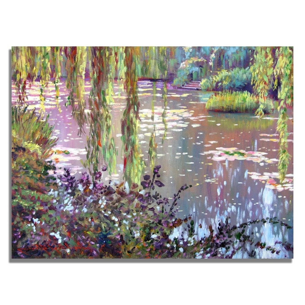 Preferred Monet Canvas Wall Art With Amazon: Trademark Fine Art Homage To Monetdavid Lloyd (View 11 of 15)