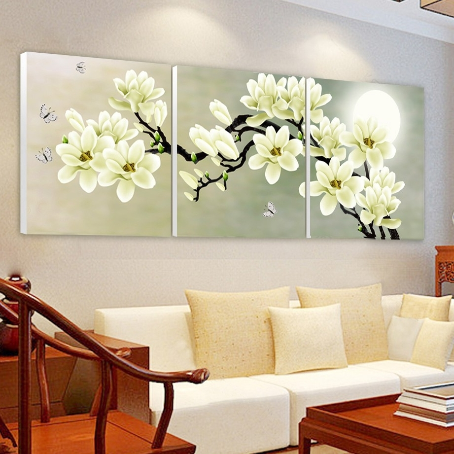 Preferred Orchid Canvas Wall Art Regarding Print Poster Canvas Wall Art Orchids Decoration Art Oil Painting (View 12 of 15)