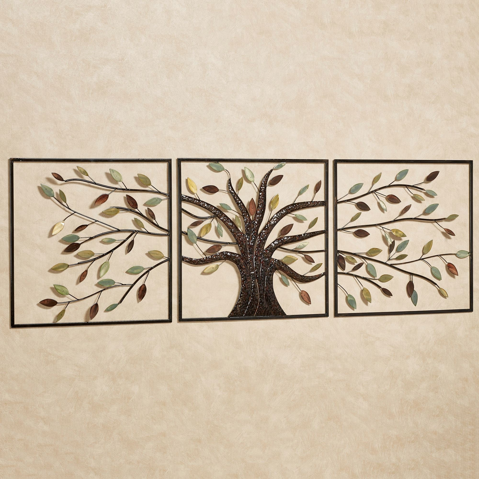Preferred Rectangular Wall Accents Pertaining To Ever Changing Brown Tree Metal Wall Art Set (View 11 of 15)