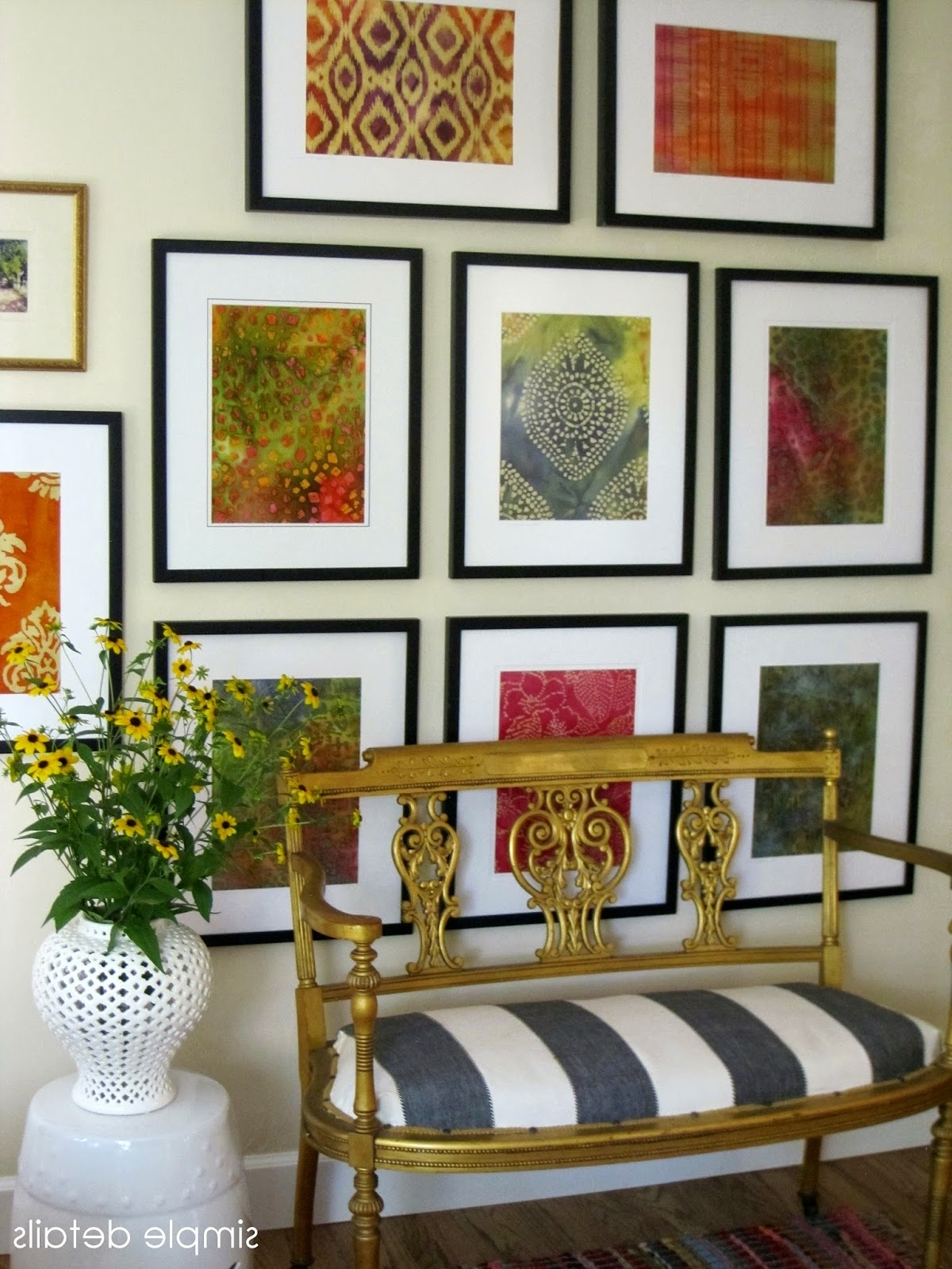 Preferred Vintage Fabric Wall Art For Simple Details: Diy Framed Batik Fabric (View 6 of 15)