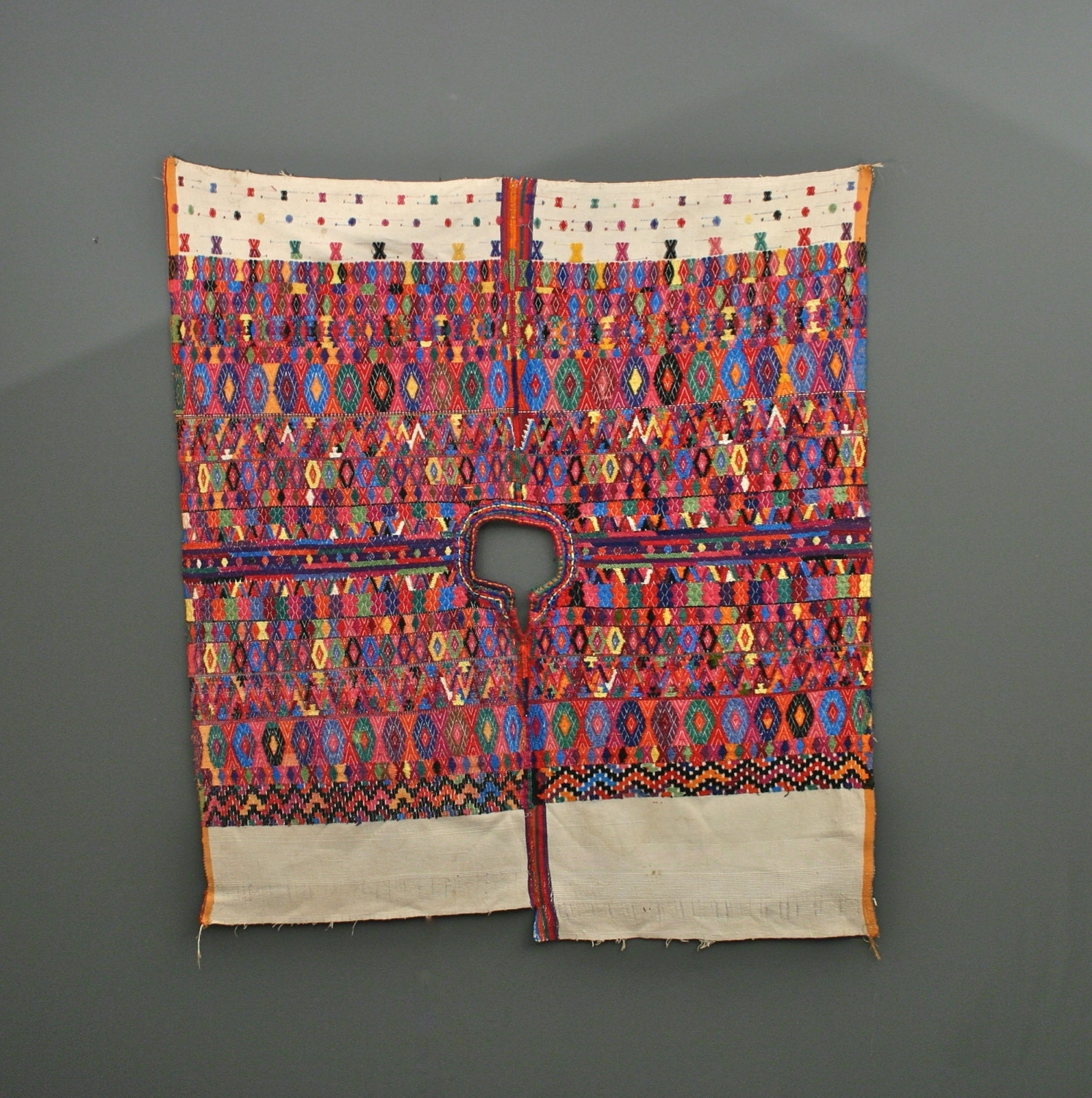 Preferred Vintage Textile Wall Art Within Vintage Guatemalan Poncho – Vintage Huipil – Wall Hanging (Gallery 11 of 15)
