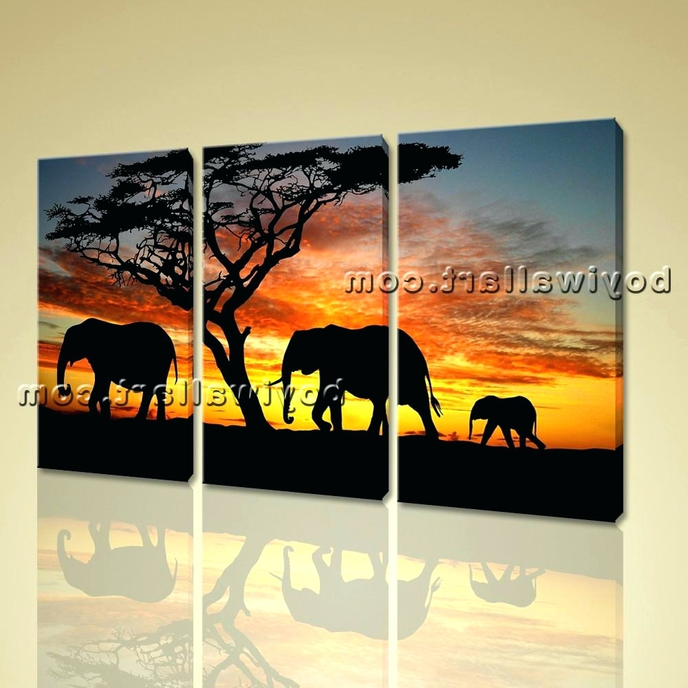 Preferred Wall Arts ~ African Canvas Wall Art African Safari Canvas Art Intended For Safari Canvas Wall Art (View 11 of 15)