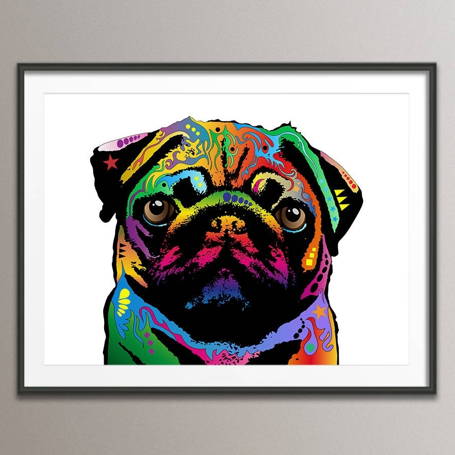 Pug Dog Pop Art Printartpause (View 13 of 15)