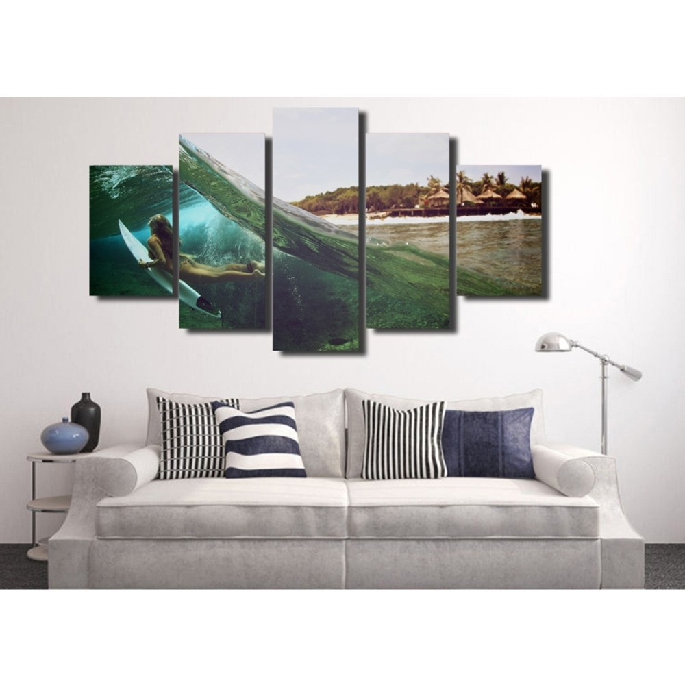 Queensland Canvas Wall Art Inside Recent Buy Abstract Surf Art And Get Free Shipping On Aliexpress (Gallery 9 of 15)