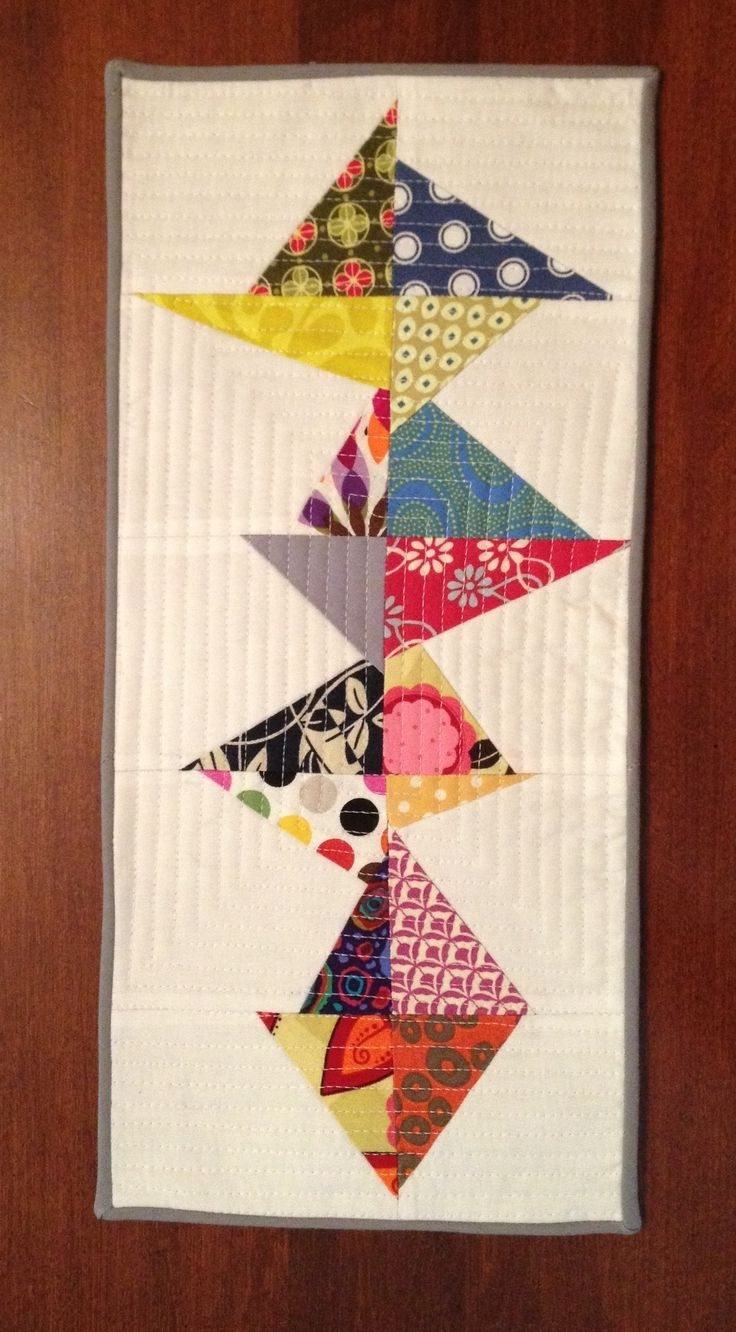 Quilt Fabric Wall Art Regarding Newest 222 Best Quilted Wall Hangings, Pillows And Table Runners Images (View 15 of 15)