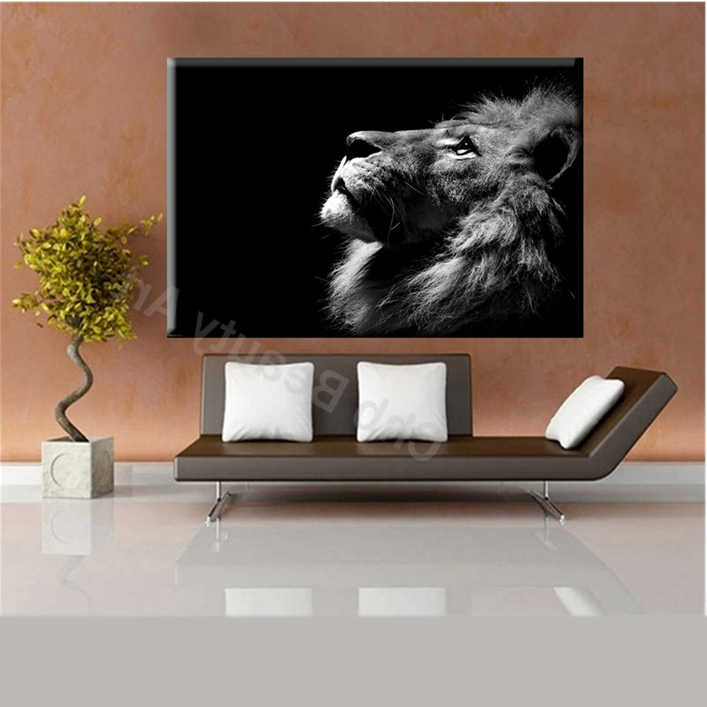 Recent 2016 Lion King Wall Art Canvas Prints Modern Art Painting Wall Inside Lion King Canvas Wall Art (Gallery 11 of 15)