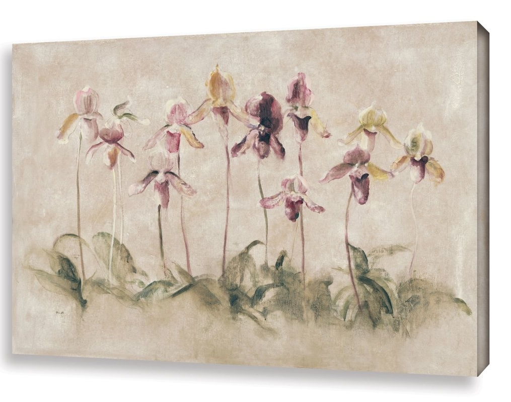 Recent Artwall 'purple Dancing Orchids'cheri Blum Painting Print On Throughout Cheri Blum Framed Art Prints (View 14 of 15)