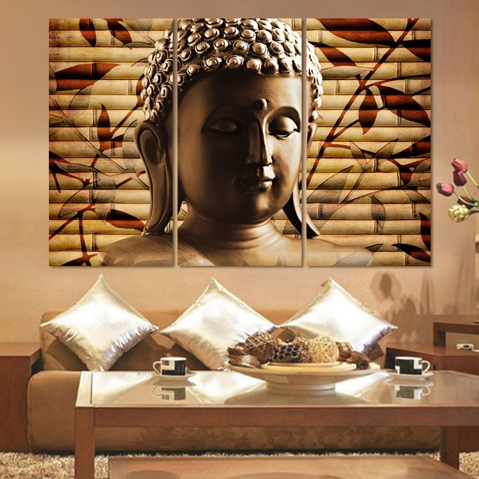 Recent Asian Fabric Wall Art Inside Compare Prices On Asian Framed Canvas Art  Online Shopping/buy Low (View 11 of 15)
