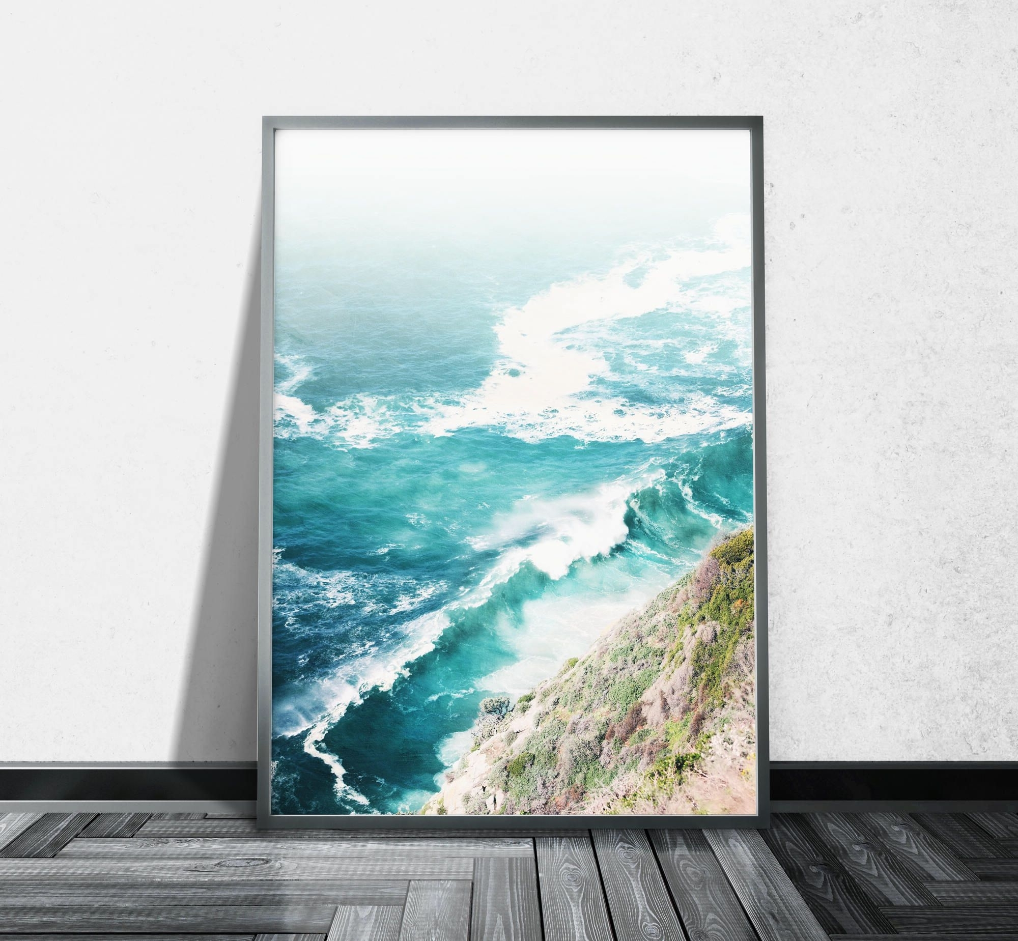 Recent Cape Town Canvas Wall Art In Aerial Beach Photography Ocean Canvas Wall Art Aerial Photography (View 11 of 15)