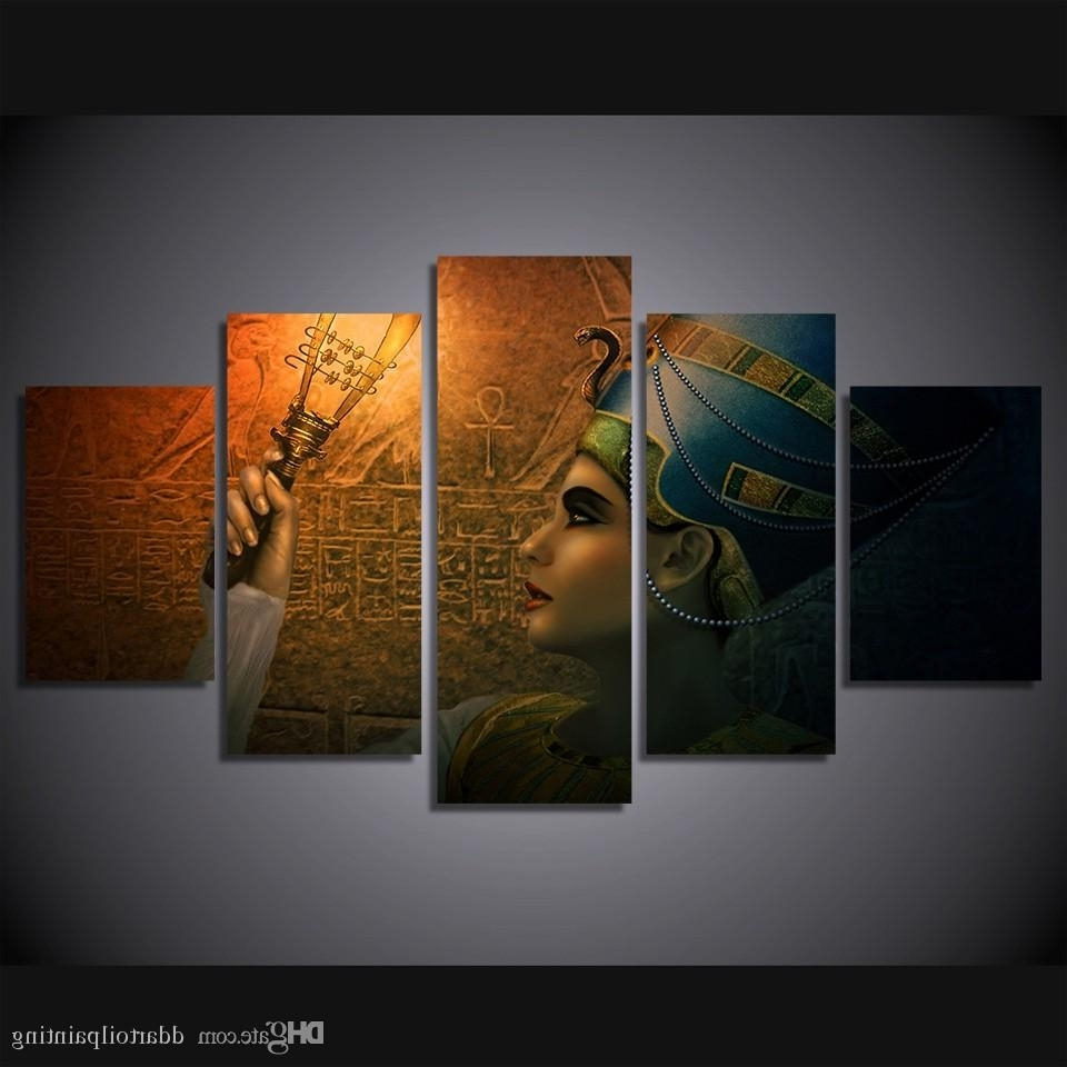 Recent Egyptian Canvas Wall Art Inside 2018 Wholesale Queens Of Egypt Canvas Painting Living Room (View 15 of 15)