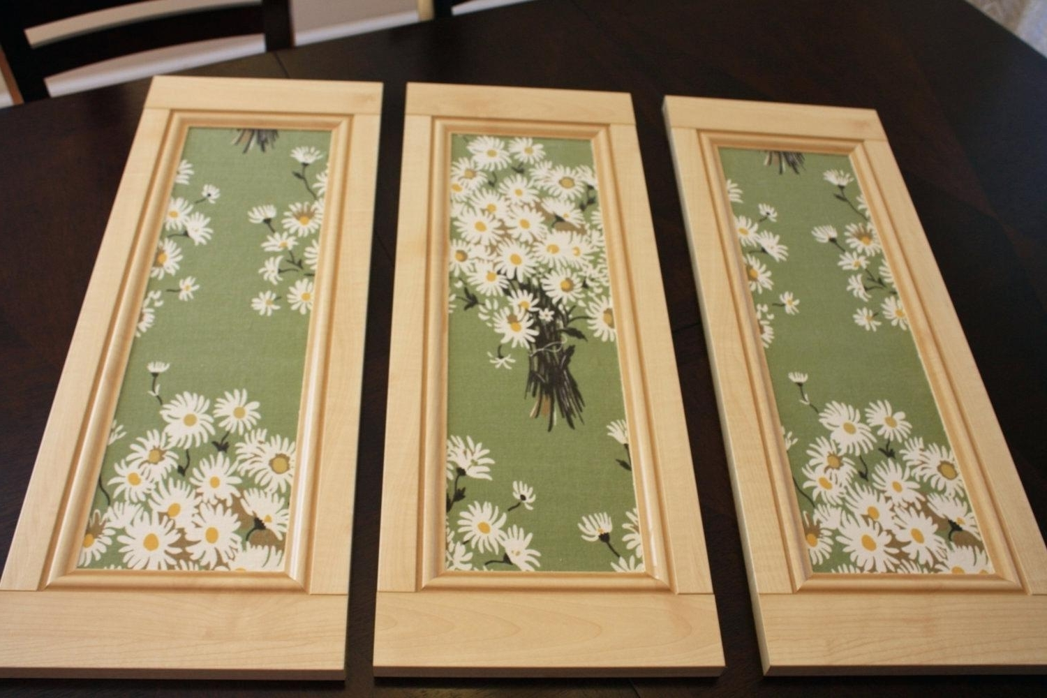 Recent Fabric Wall Art Frames In Decoration: Framed Fabric Wall Art Canvas Charming Arts Floral (Gallery 4 of 15)