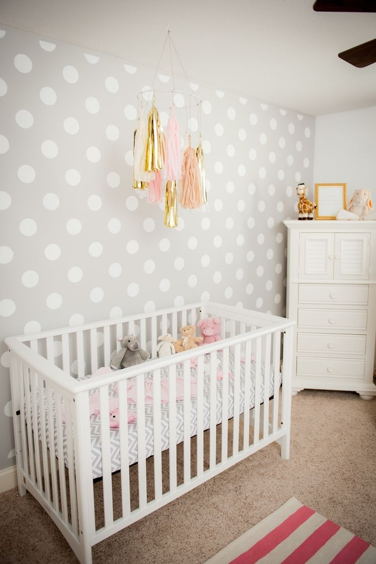 Recent Girl Nursery Wall Accents Intended For Decorations : Nice Looking Nursery Baby Room Design With White (View 11 of 15)