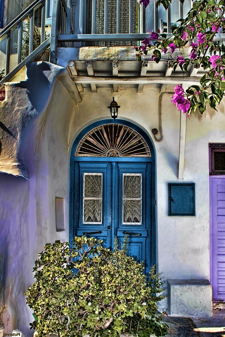 Recent Greece Canvas Wall Art Pertaining To The Blue Door Santorini – Tom Prendergast Canvas (View 14 of 15)
