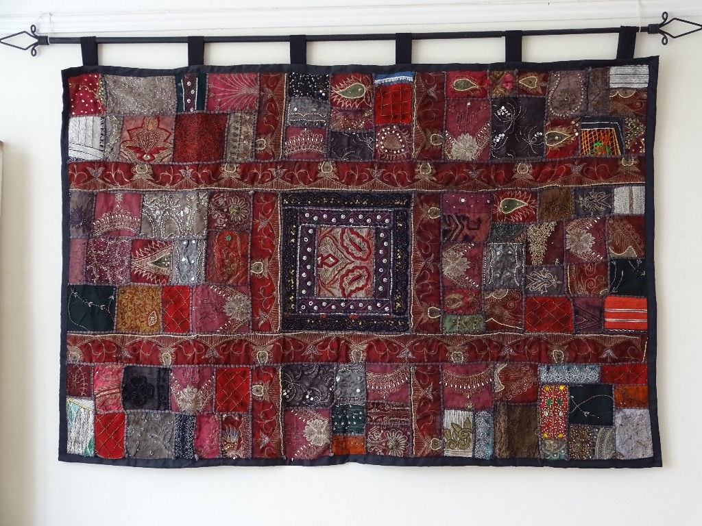 Recent Large Indian Fabric Wall Hanging (View 1 of 15)