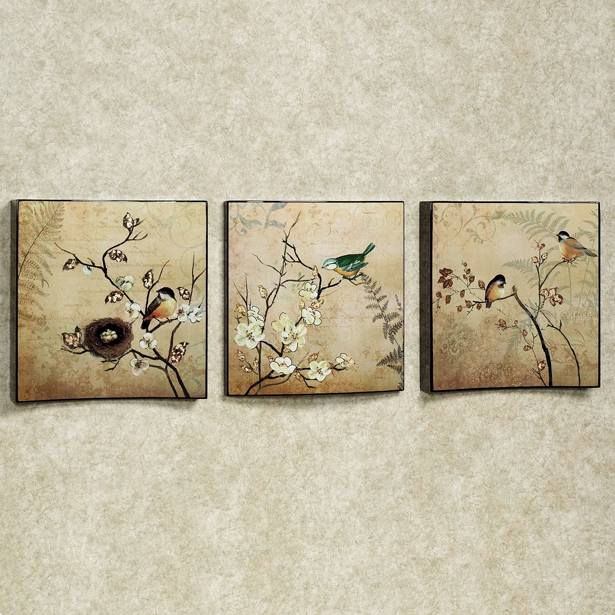 Recent Natures Kiss Birds Wall Art Set With Birds Canvas Wall Art (View 12 of 15)