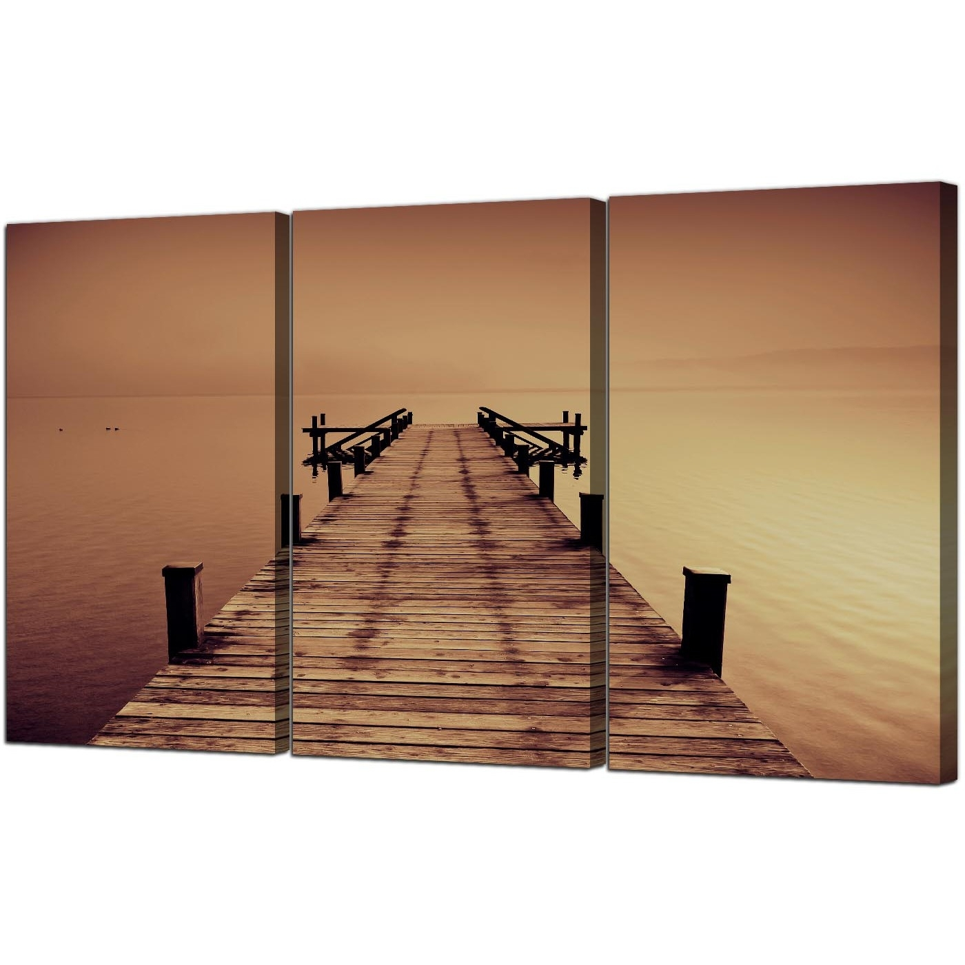 Recent Seaside Canvas Pictures 3 Panel For Your Living Room Throughout Jetty Canvas Wall Art (Gallery 5 of 15)