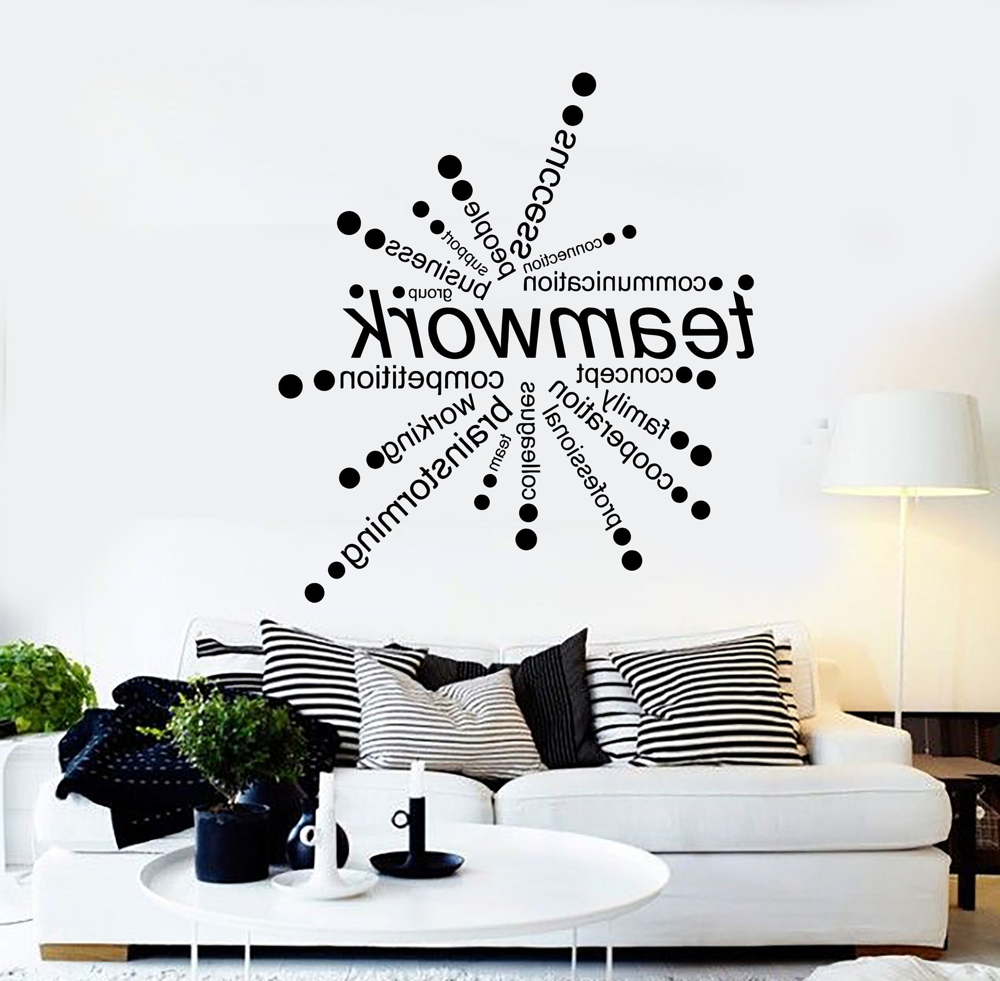 Recent Wall Decorations For Office Luxury Vinyl Wall Decal Teamwork Words Within Vinyl Wall Accents (Gallery 7 of 15)