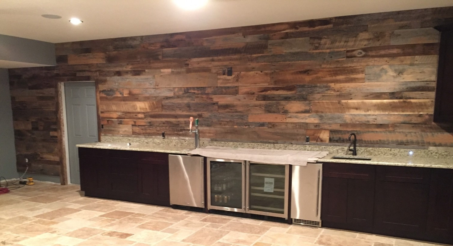 Reclaimed Wood Accent Wall — Cookwithalocal Home And Space Decor With Most Up To Date Reclaimed Wood Wall Accents (View 7 of 15)