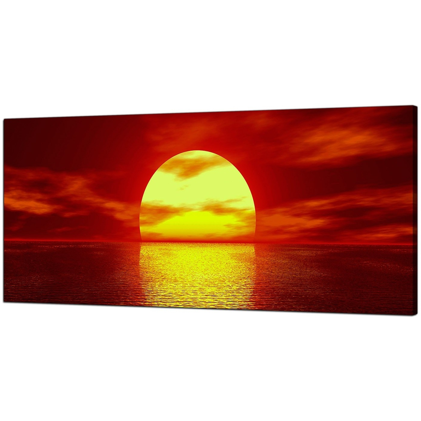Red Canvas Wall Art Throughout Famous Modern Red Canvas Wall Art Of A Sea Sunset (View 11 of 15)