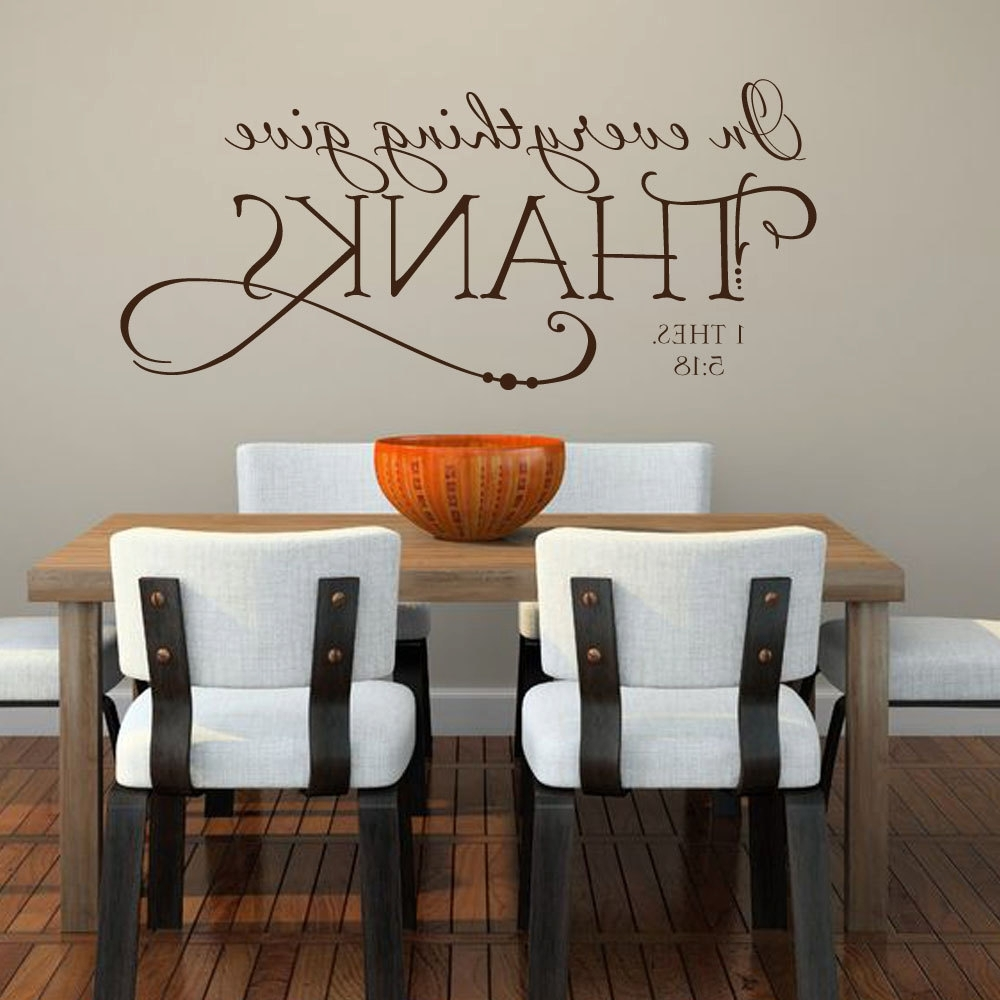 Religious Kitchen Bible Quote – Removable Vinyl Wall Decals – 10.5 With Recent Vinyl Wall Accents (Gallery 12 of 15)