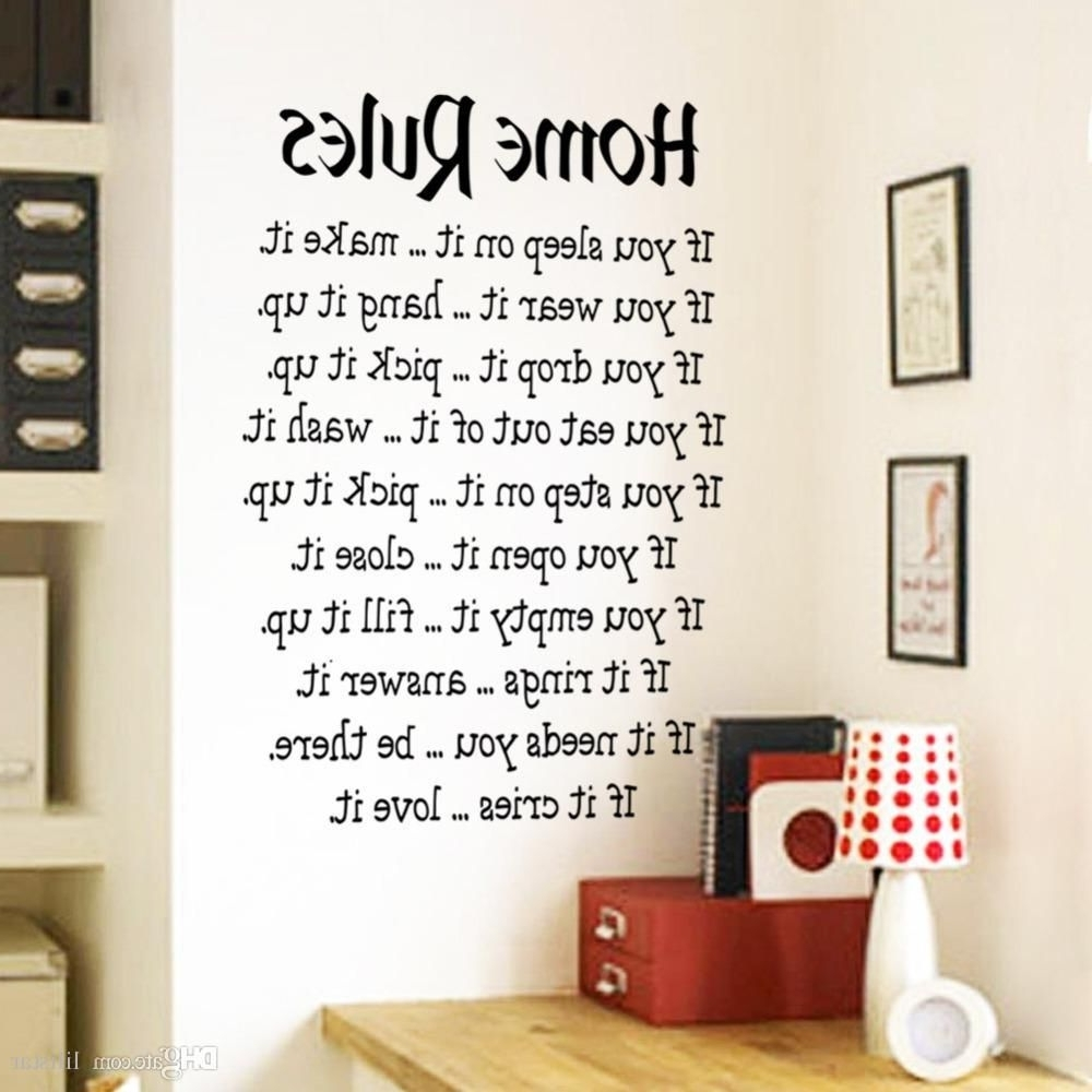 Removable Wall Accents In Most Up To Date Tips For Decorating Wall Decal Quotes — Wall Decals Ideas (Gallery 12 of 15)