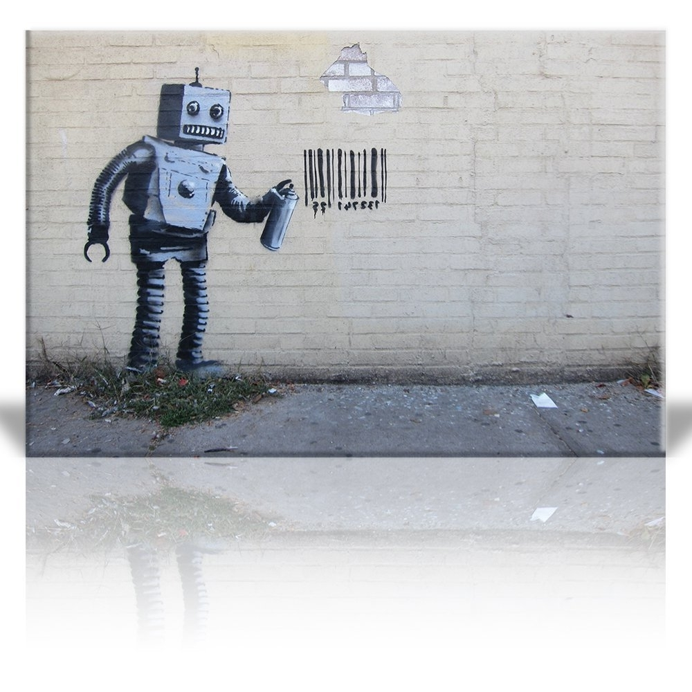 Robot Canvas Wall Art With Regard To Widely Used Wall26 – Art Prints – Framed Art – Canvas Prints – Greeting (View 11 of 15)