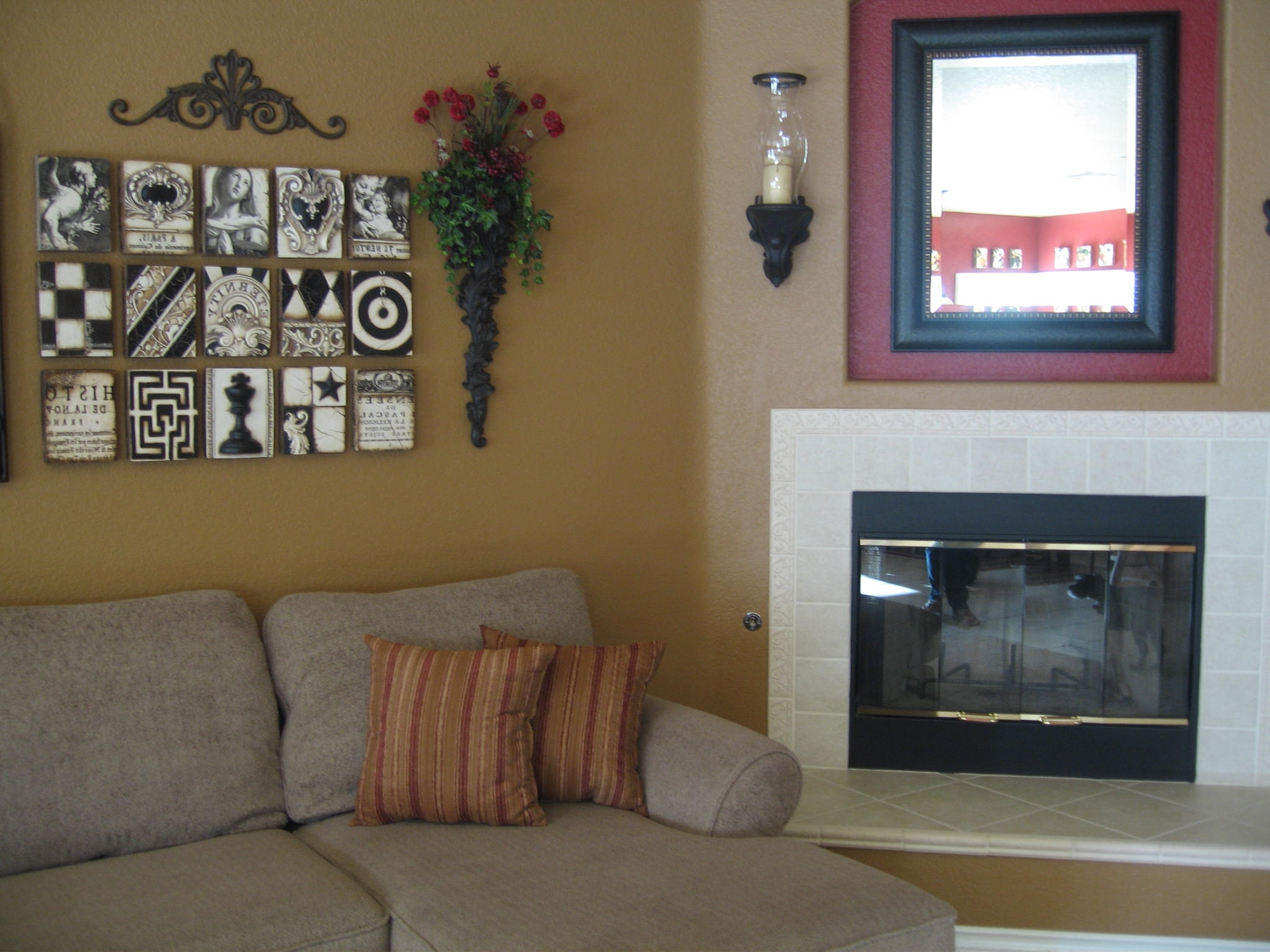 Rustic Fabric Wall Art For 2017 Foxy Grey Fabric Sectional Sofas Plus Cool Cushions And Unique (Gallery 8 of 15)