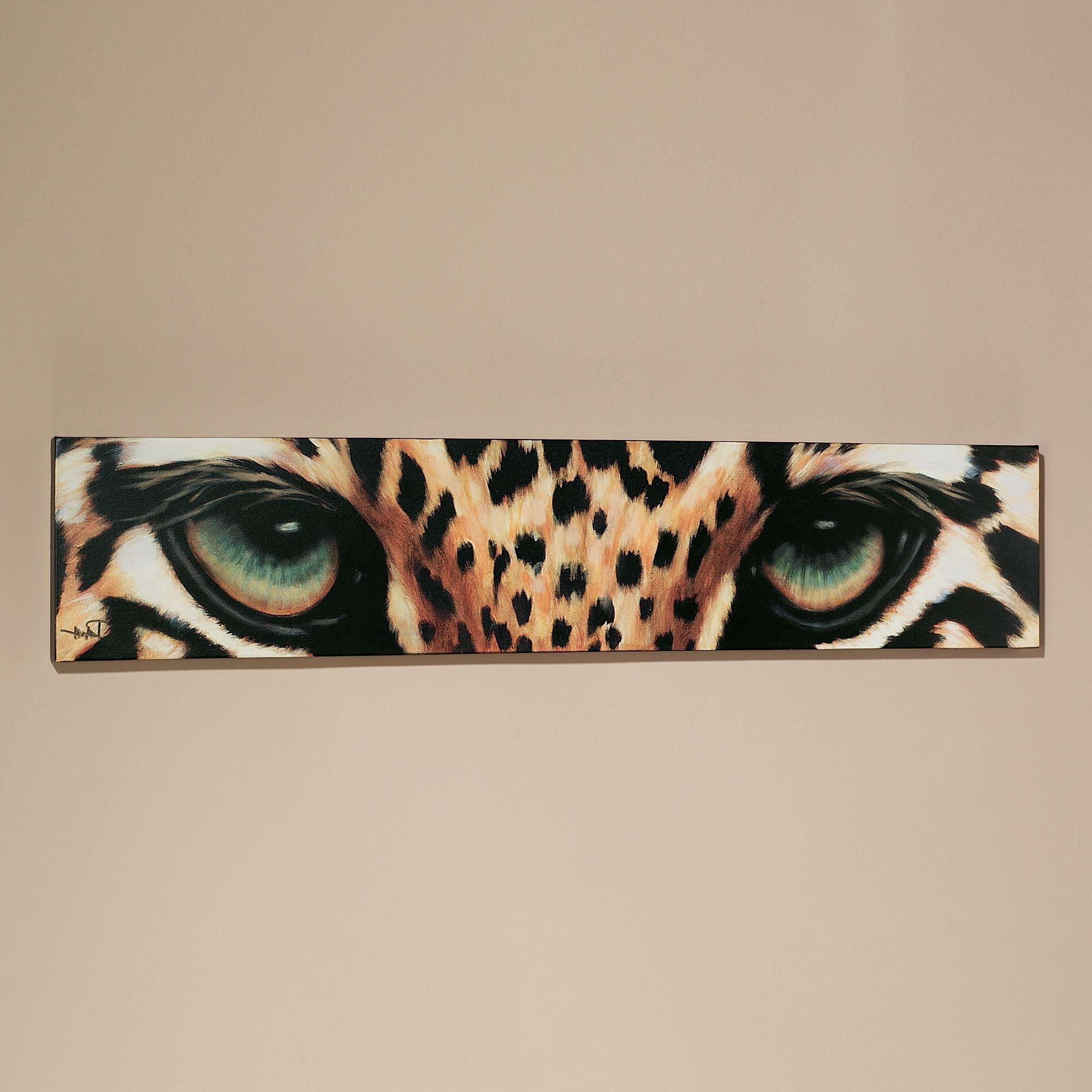 Safari Canvas Wall Art Inside Preferred Leopard Eyes Canvas Art (View 12 of 15)