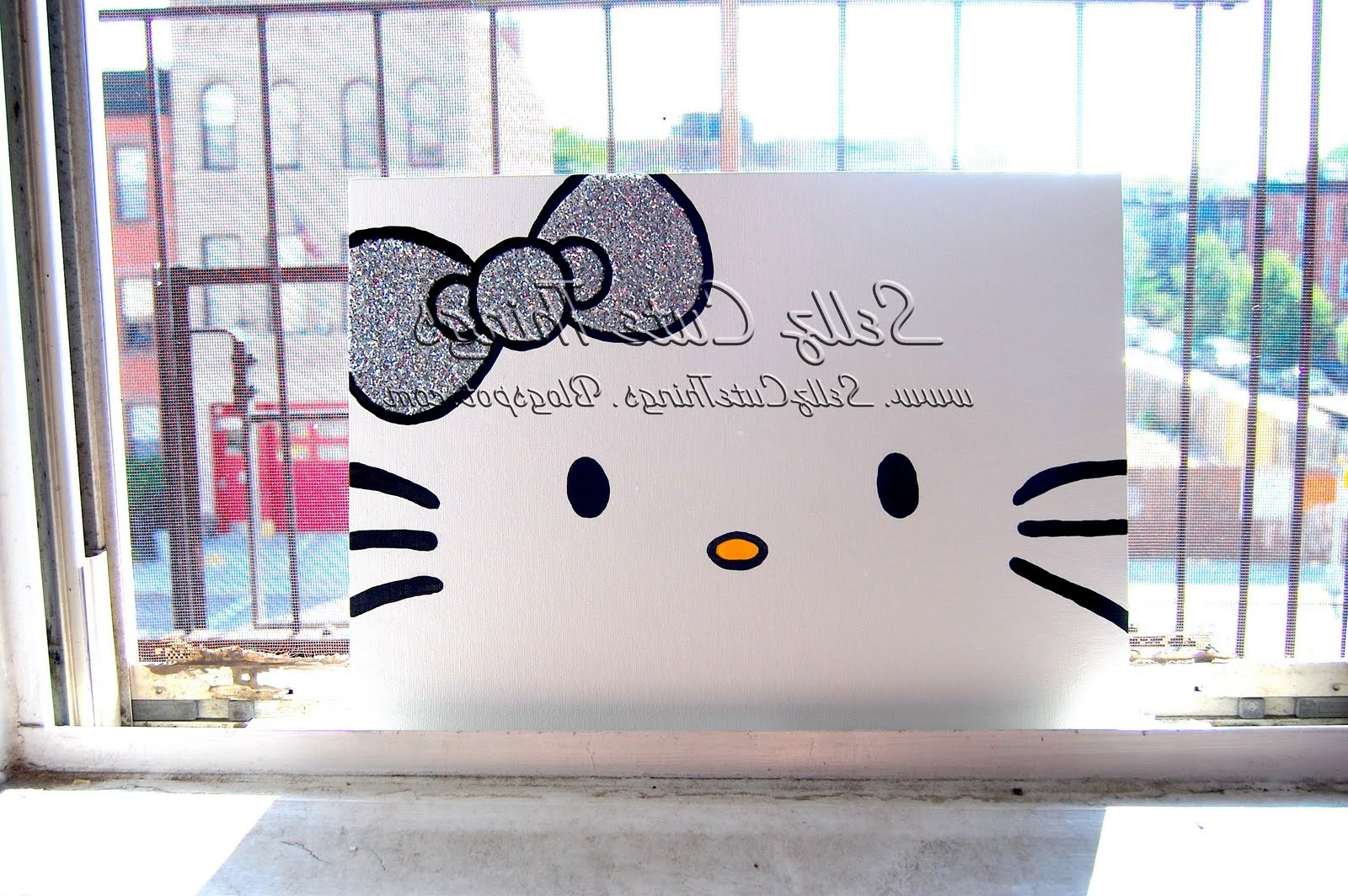 Sellzcutethings: Hello Kitty Acrylic Painting On Canvas Regarding Most Up To Date Hello Kitty Canvas Wall Art (Gallery 1 of 15)