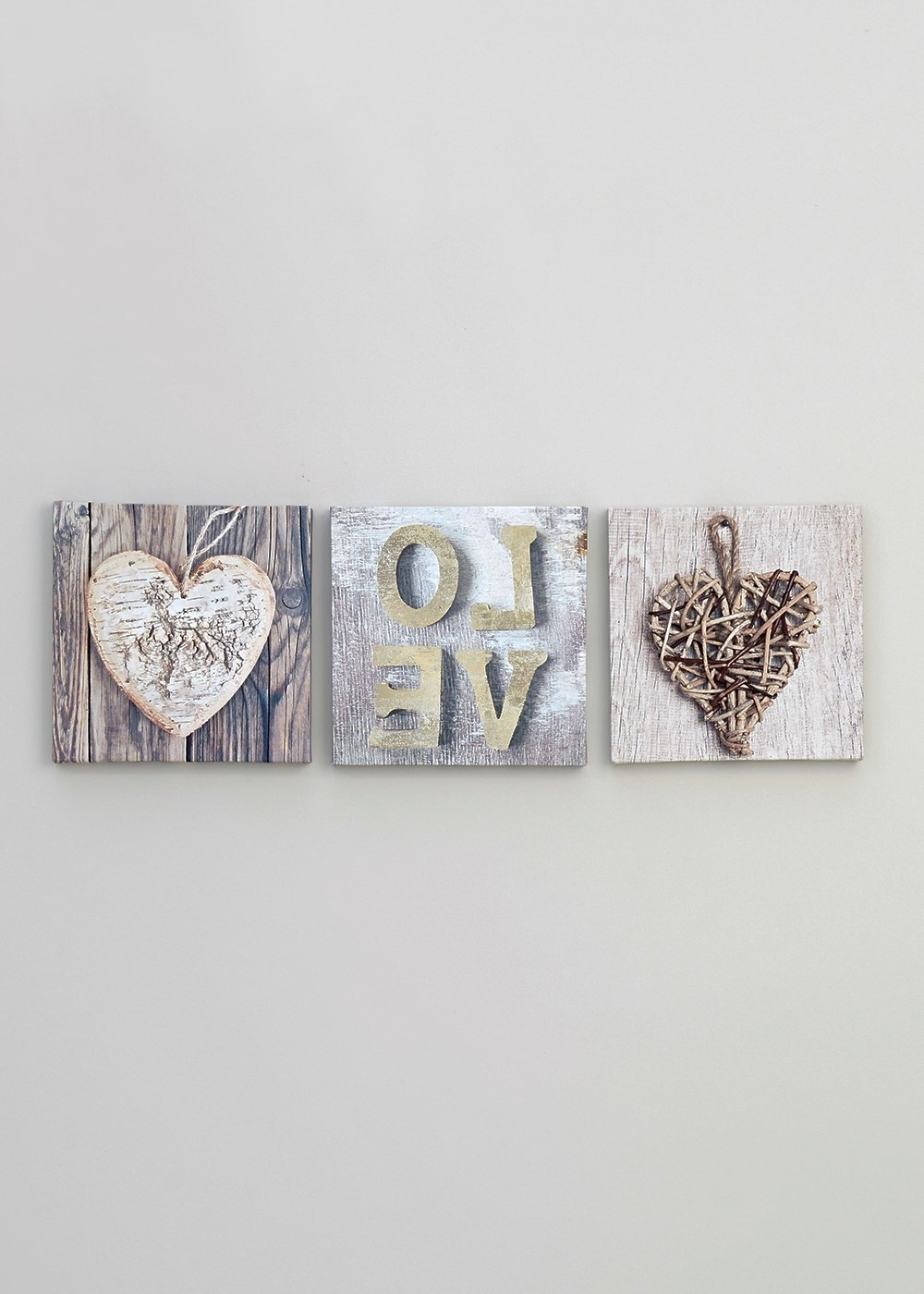 Set Of 3 Heart And Love Prints (20Cm X 20Cm) – Matalan (View 14 of 15)