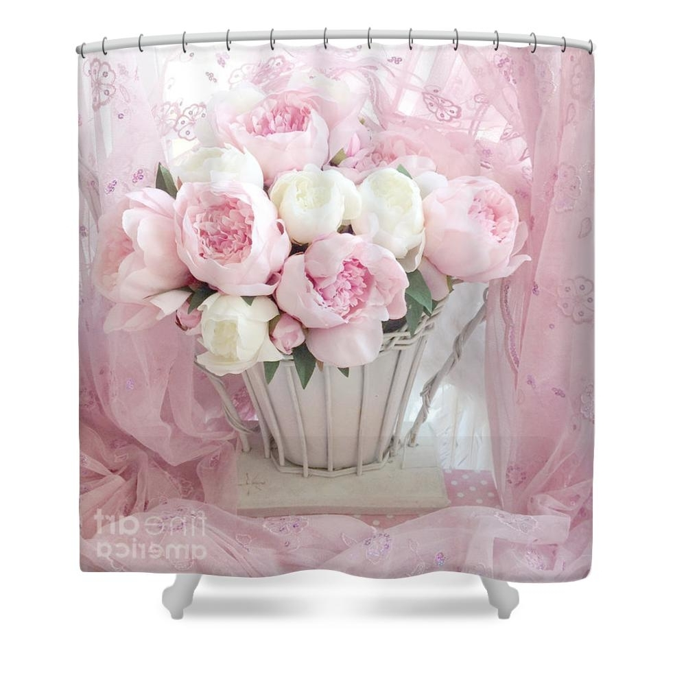 Shabby Chic Framed Art Prints With Regard To Current Dreamy Shabby Chic Basket Of Pink And White Peonies – Vintage Pink (View 11 of 15)