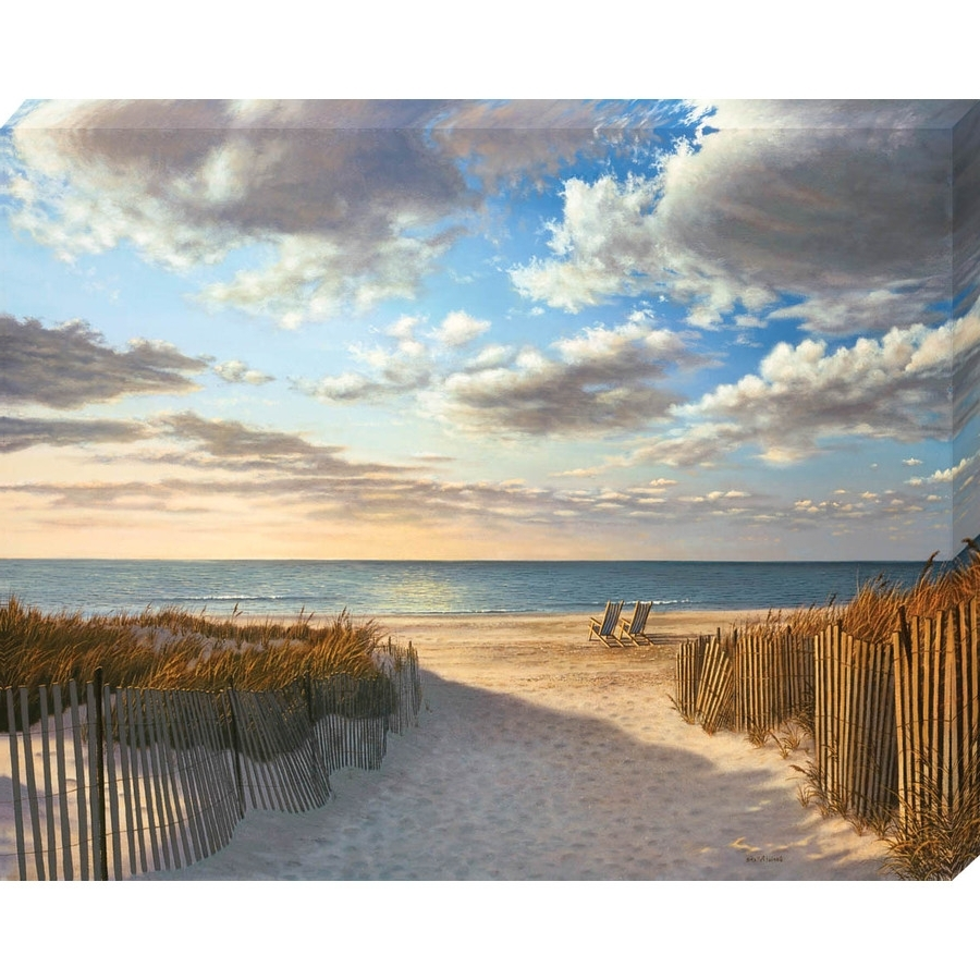 "Shop 30"" X 38"" Sunset Beach Canvas Wall Art At Lowes In Latest Beach Canvas Wall Art (Gallery 6 of 15)"