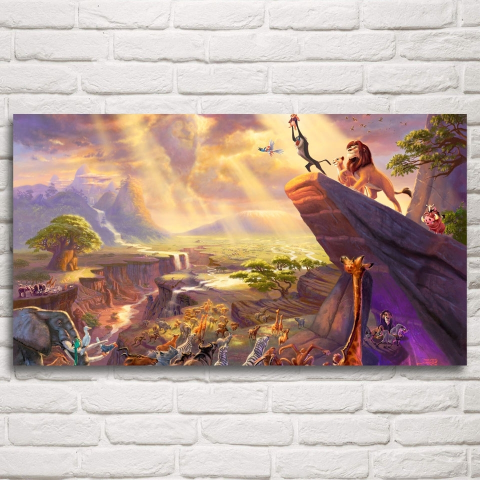 Silk Fabric Wall Art With Regard To Fashionable The Lion King Movie Art Silk Fabric Poster Prints Home Wall Decor (Gallery 11 of 15)