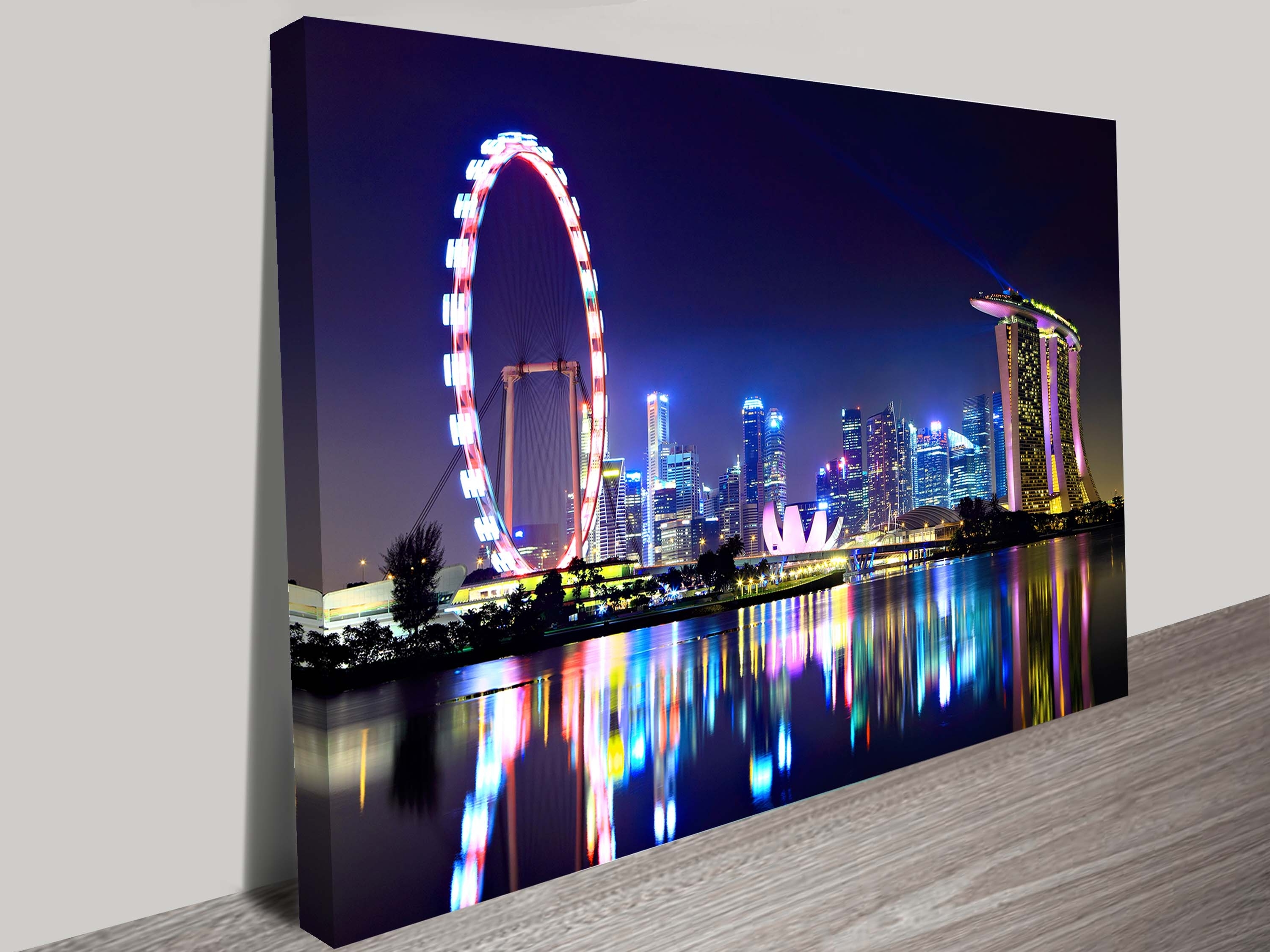 Singapore City Skyline Canvas Print Brisbane With Regard To Recent Brisbane Canvas Wall Art (Gallery 3 of 15)