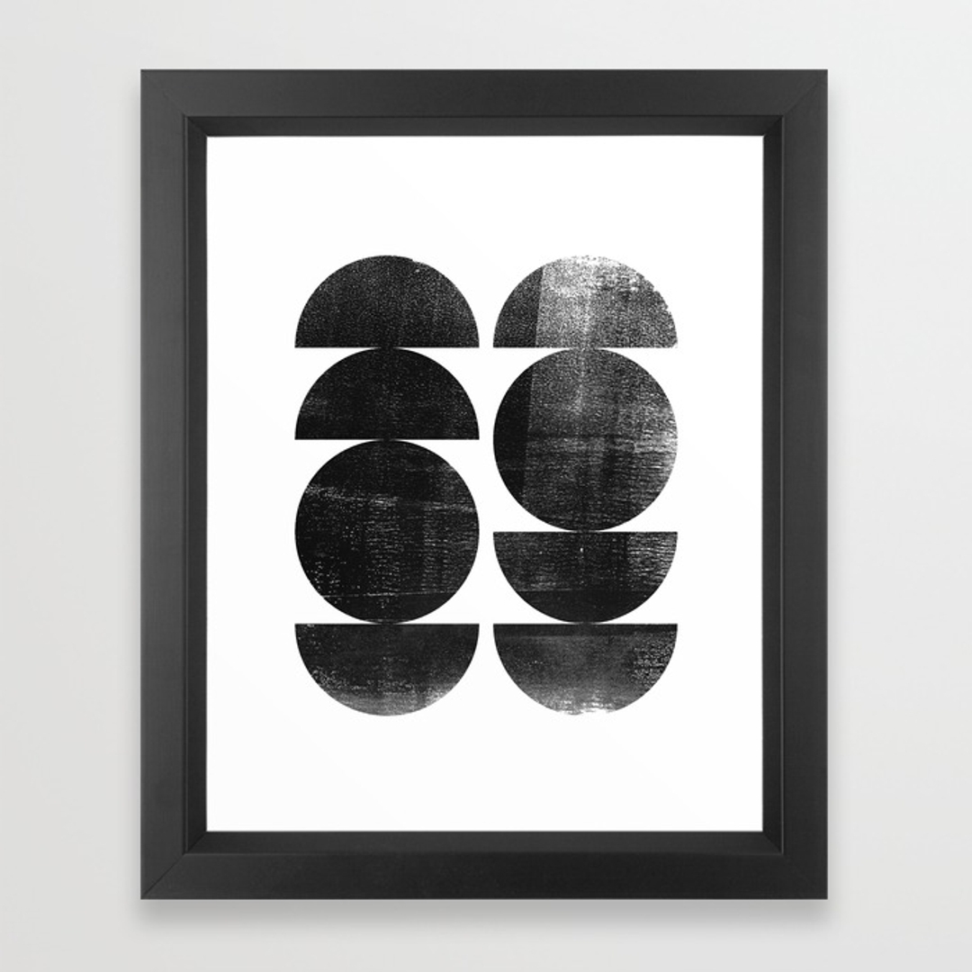 Society6 With Black And White Framed Art Prints (View 13 of 15)