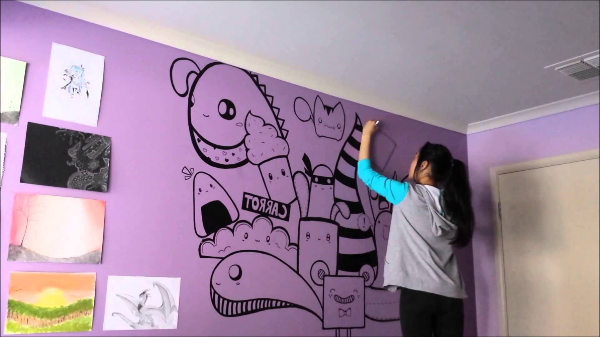 Speed Painting – Wall Artjulie – Youtube Intended For Well Known Wall Accents Without Paint (Gallery 13 of 15)