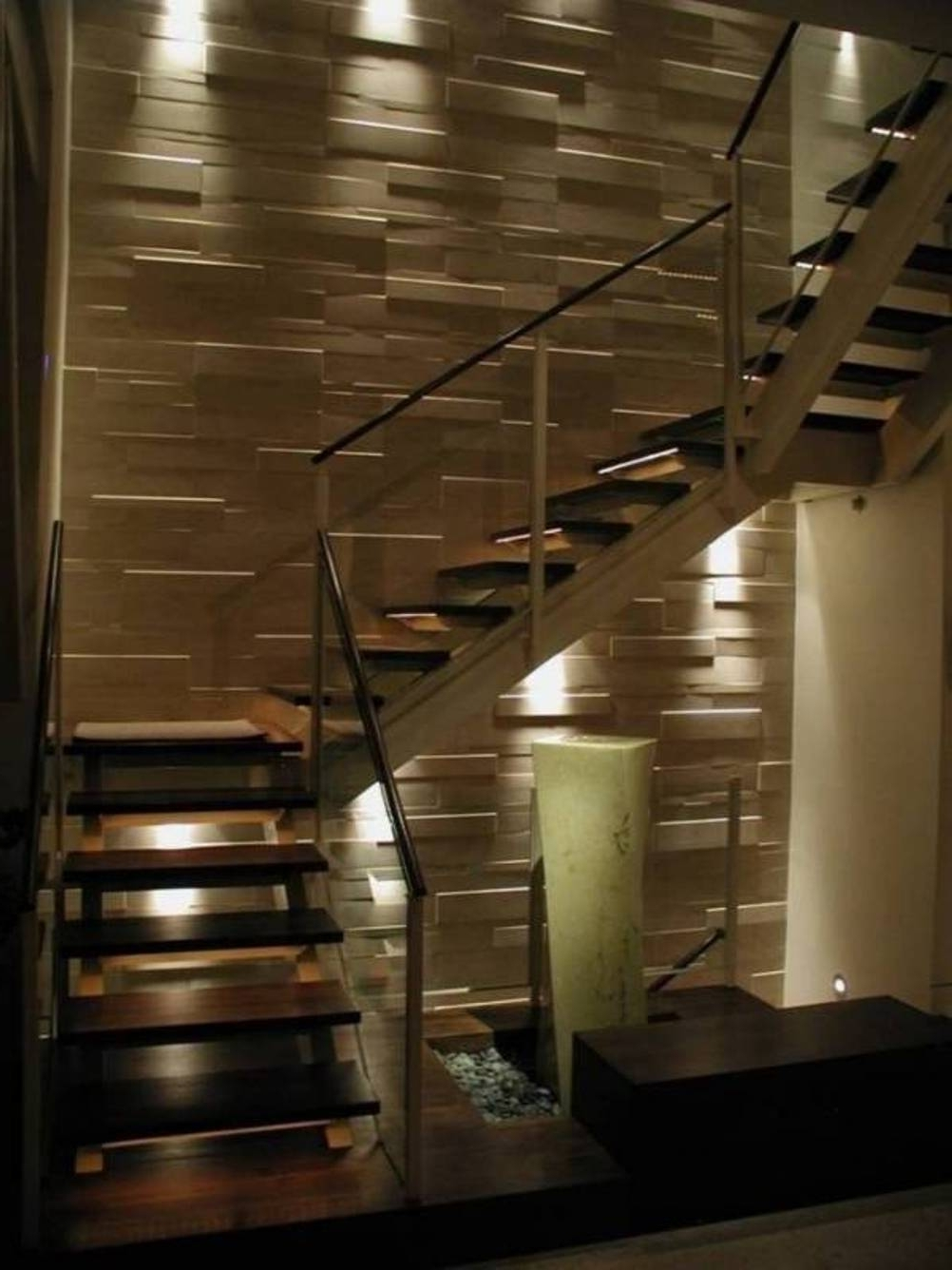 Staircase Wall Accents For Well Liked Home Design And Decor , Home Interior Wall Cladding Ideas (Gallery 14 of 15)