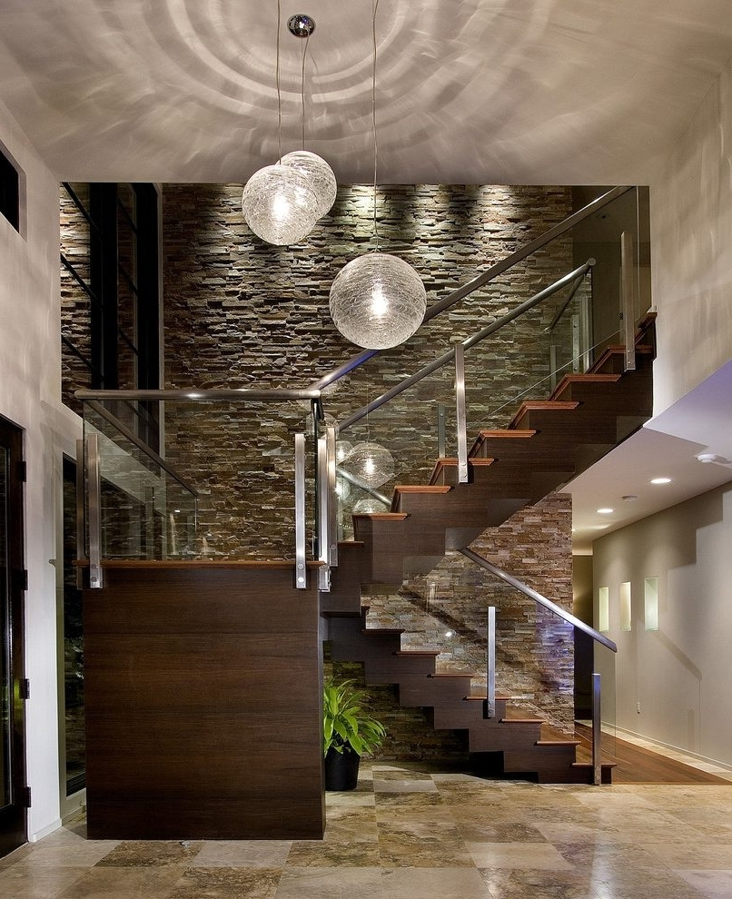 Staircase Wall Accents Regarding Trendy Staircase Wall Decorating Ideas Staircase Contemporary With Beige (Gallery 2 of 15)