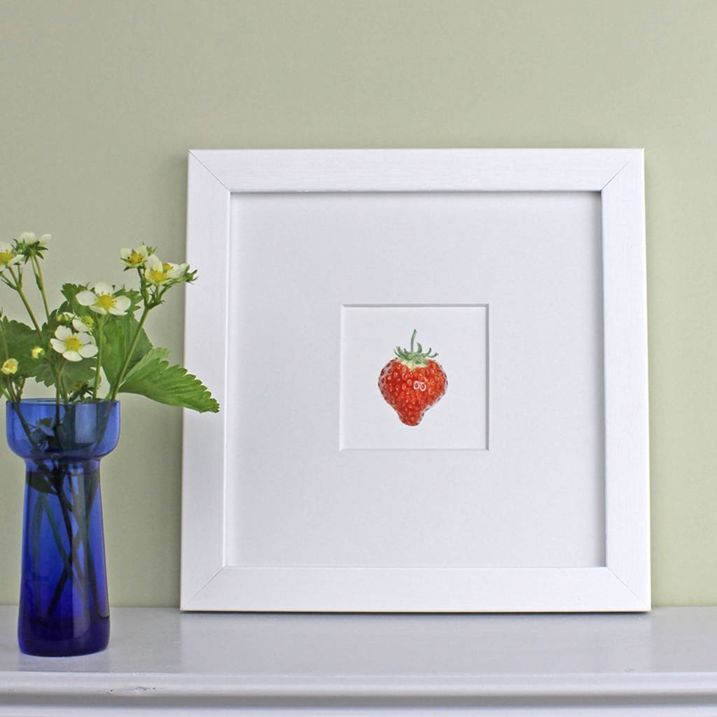 Strawberry Framed Botanical Art Printthe Botanical Concept Inside 2017 Framed Botanical Art Prints (View 13 of 15)
