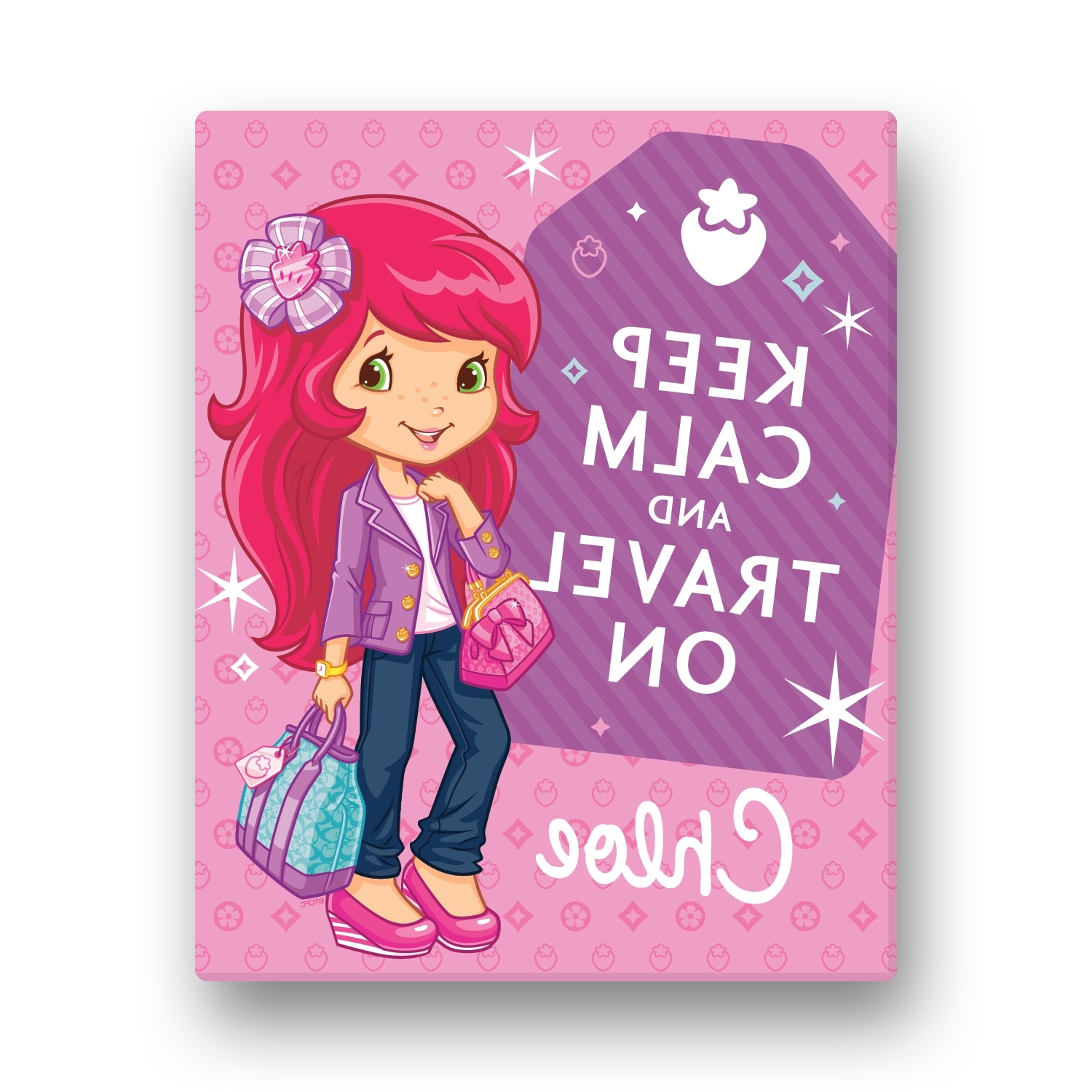 Strawberry Shortcake Keep Calm 16 X 20 Canvas Wall Art (View 9 of 15)
